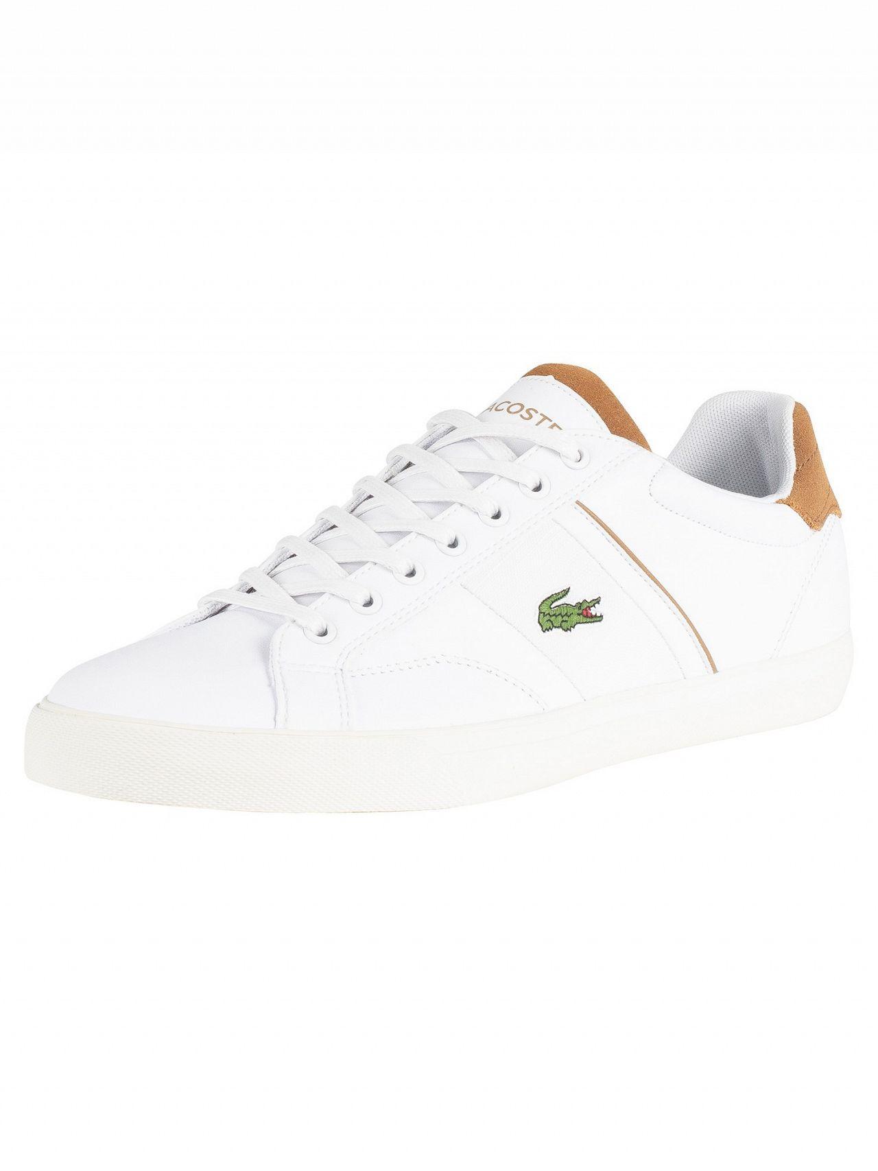 02253e7b07a727 Lyst - Lacoste White light Brown Fairlead 119 1 Cma Leather Trainers ...