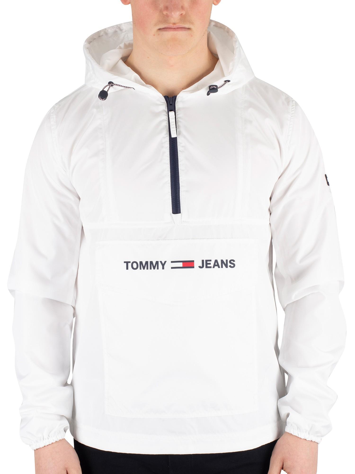 Tommy Jeans Herren TJM Nylon Shell Solid Popover Jacke