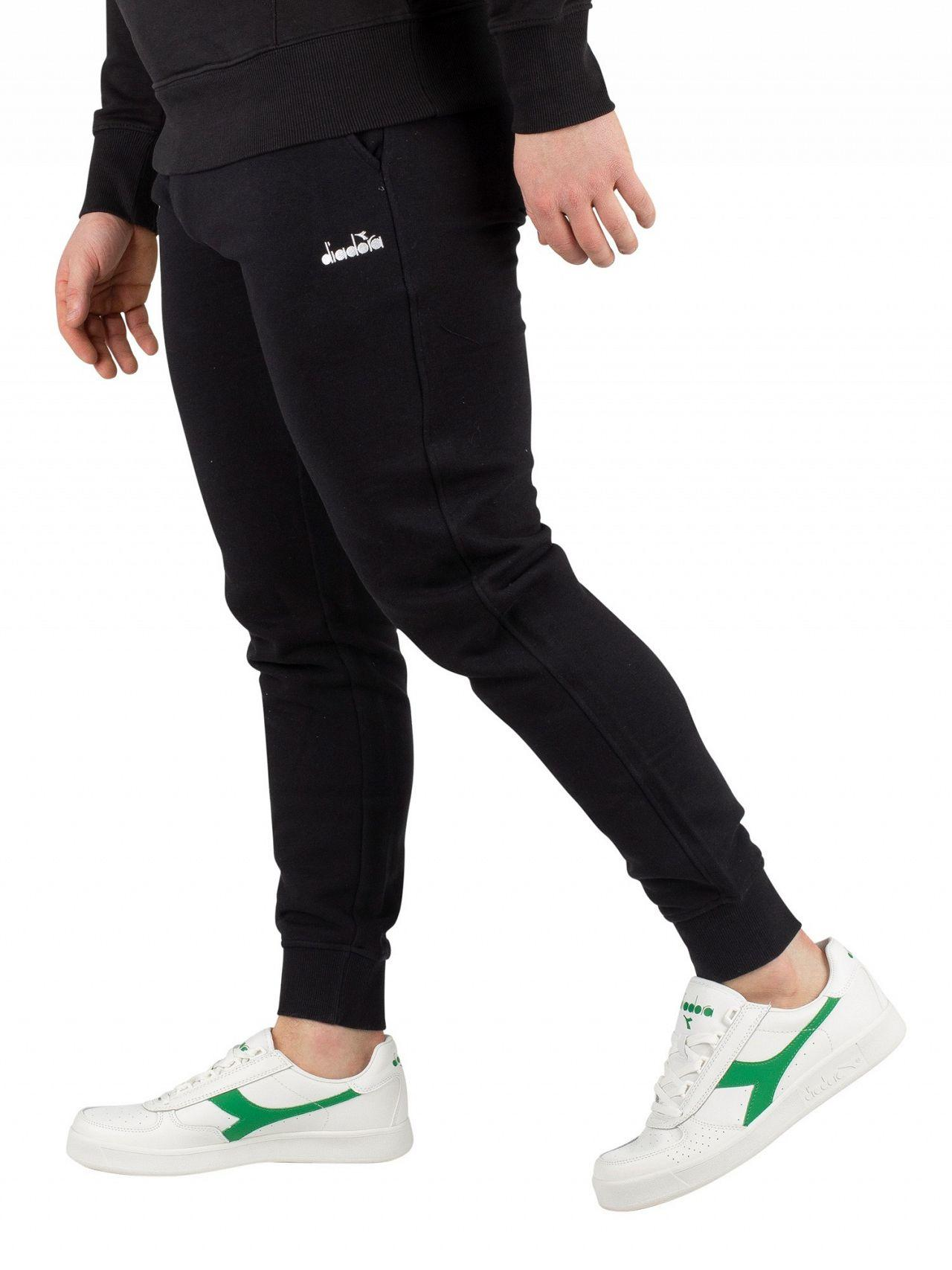 Diadora Black Logo Joggers in Black for Men - Lyst 239ce3b63