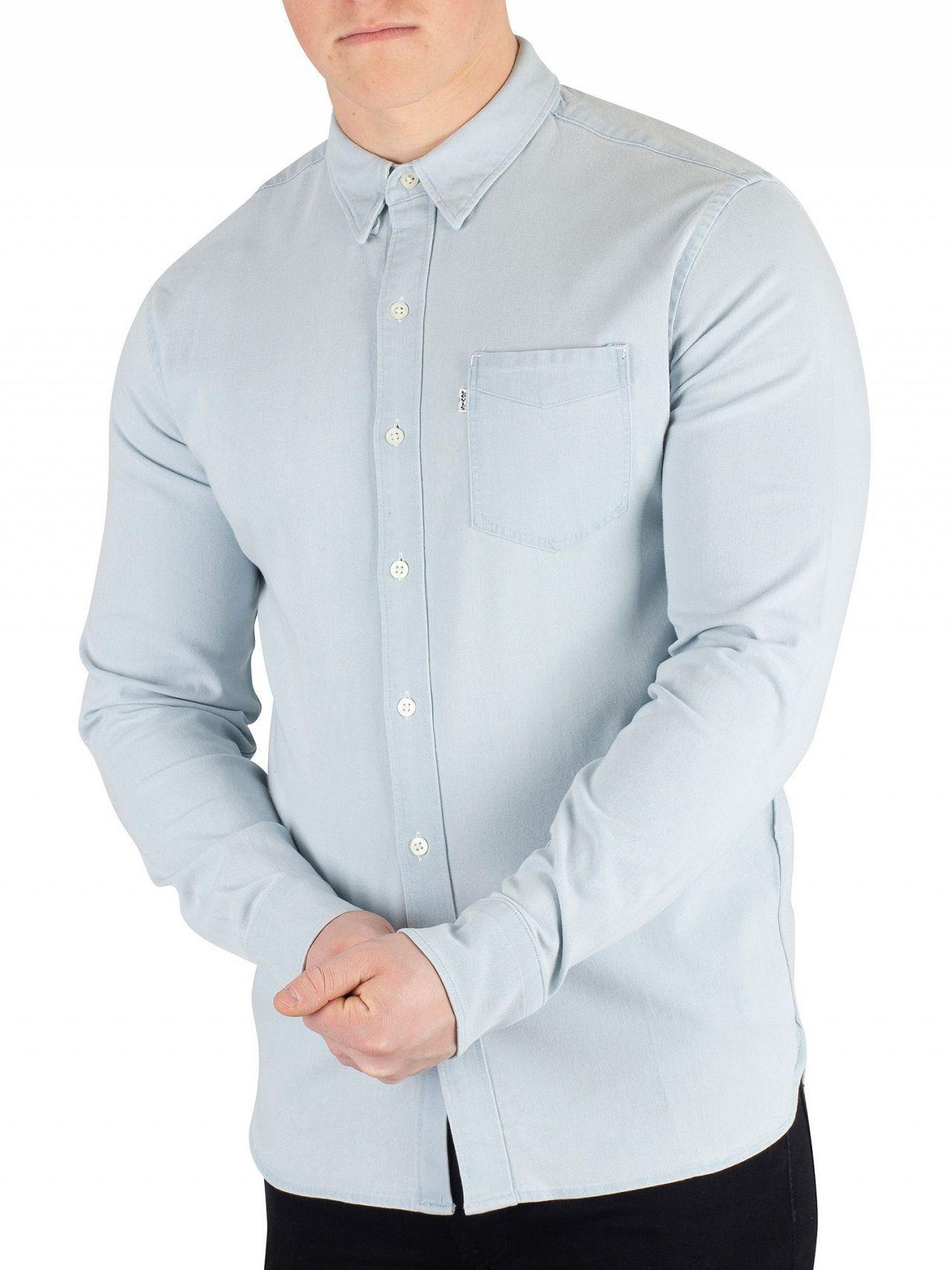 f06714614b1 Lyst - Levi s Super White Light Sunset Pocket Shirt in White for Men