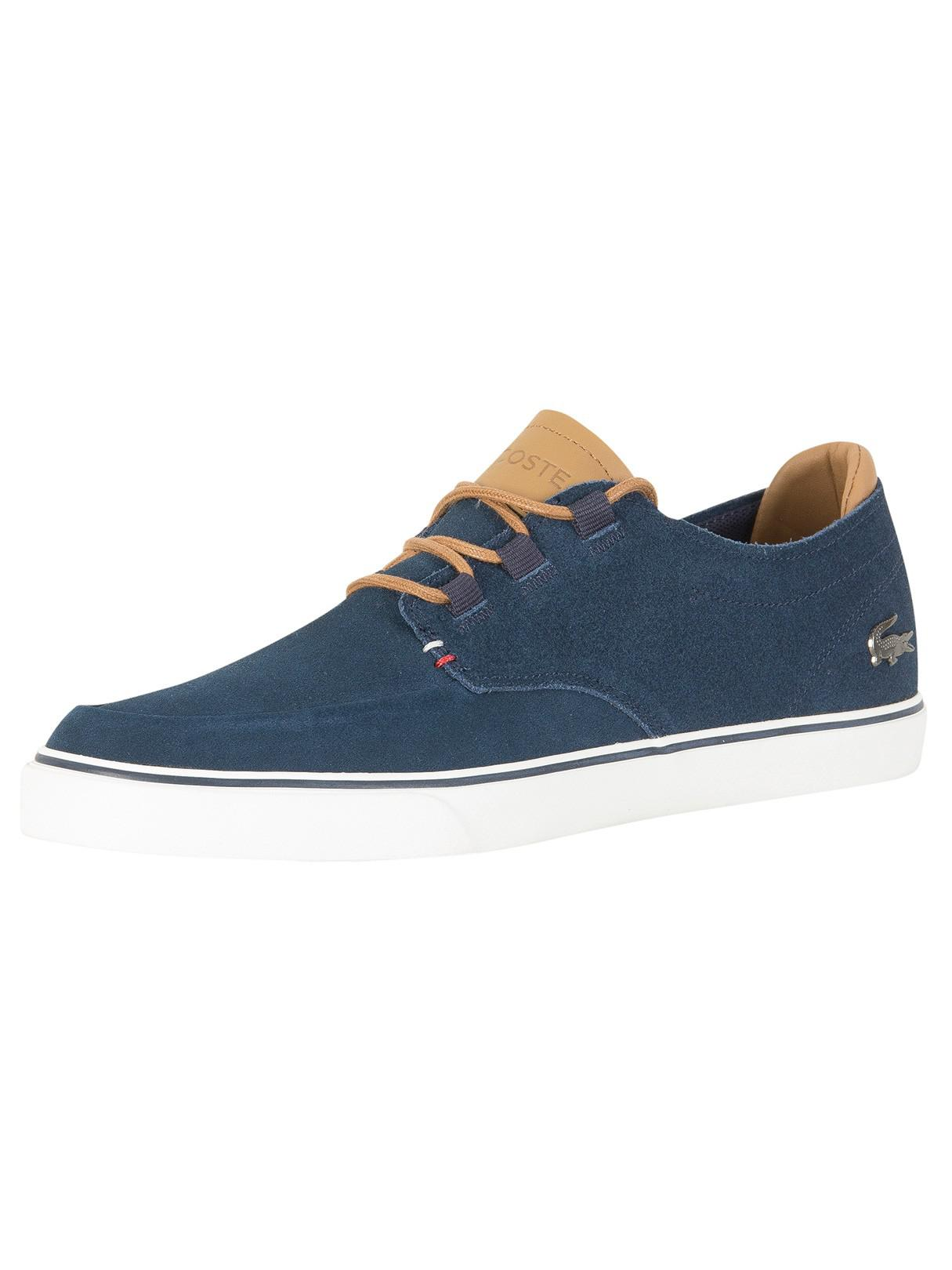 Lacoste Men's Graduate Lcr3 118 1 Leather Trainers - Navy/Light Brown - UK 10 mjGs9zo0Sz