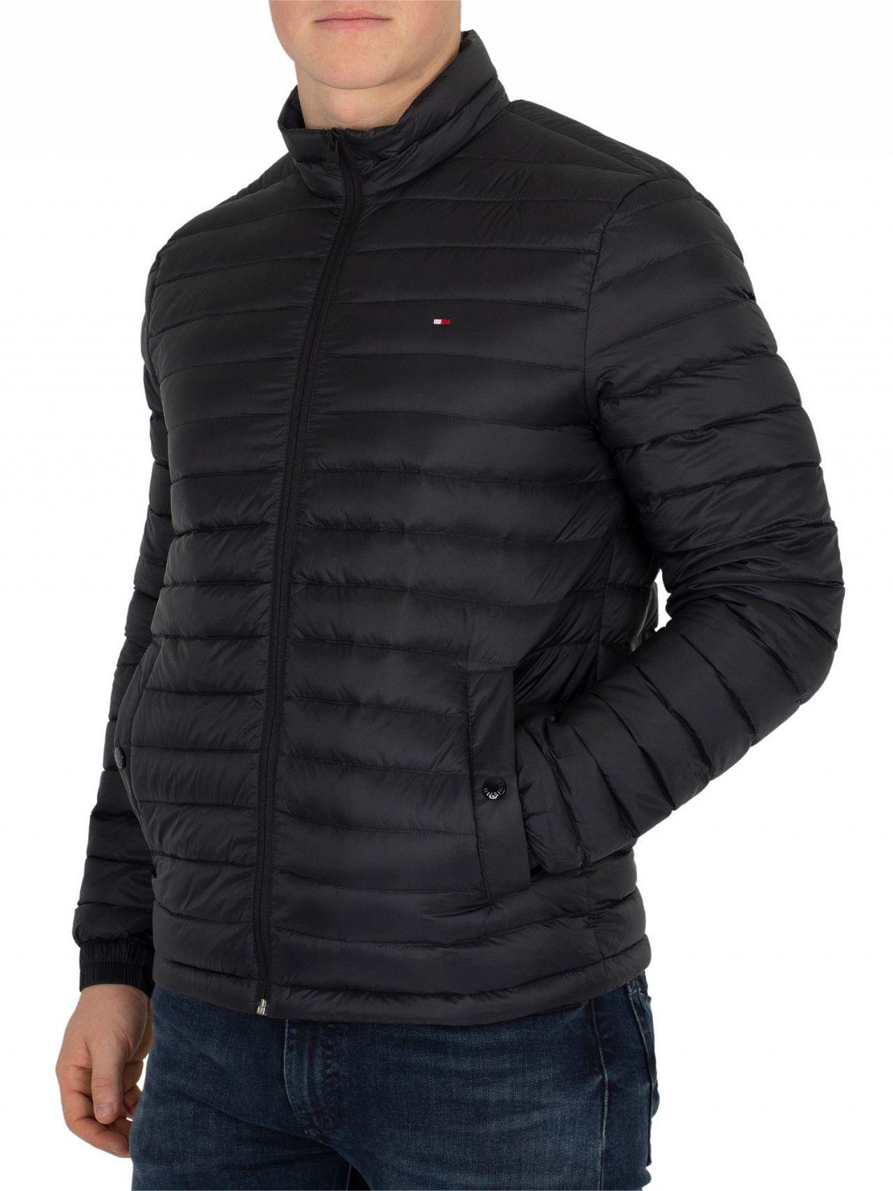 d18751e50294 Lyst - Tommy Hilfiger Jet Black Core Lightweight Packable Down Jacket in  Black for Men