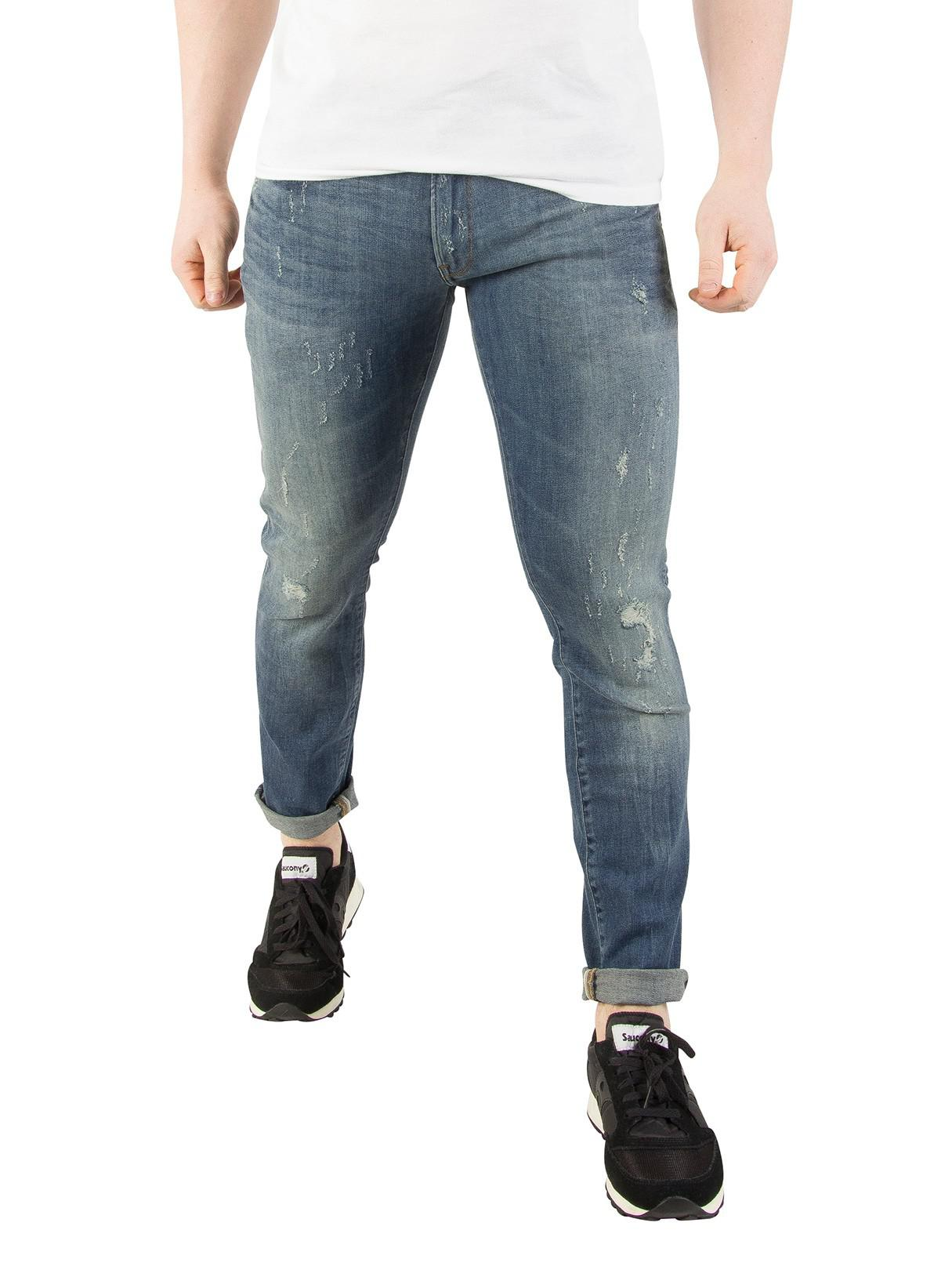 00424e0aaa7 G-Star RAW Vintage Medium Aged 3301 Deconstructed Super Slim Jeans ...