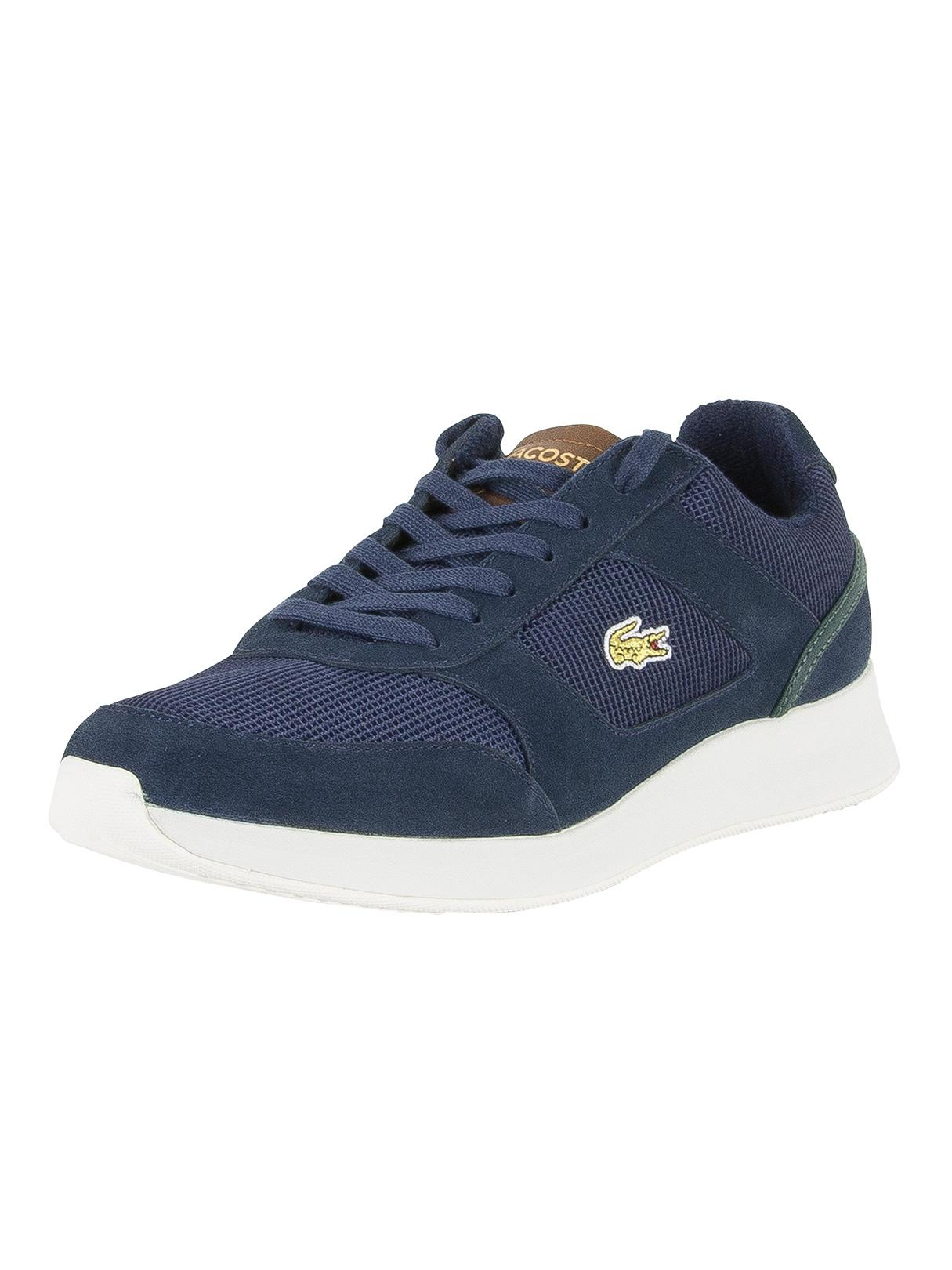 a15e81e38249 Lyst - Lacoste Navy brown Joggeur 317 4 Spm Trainers in Blue for Men