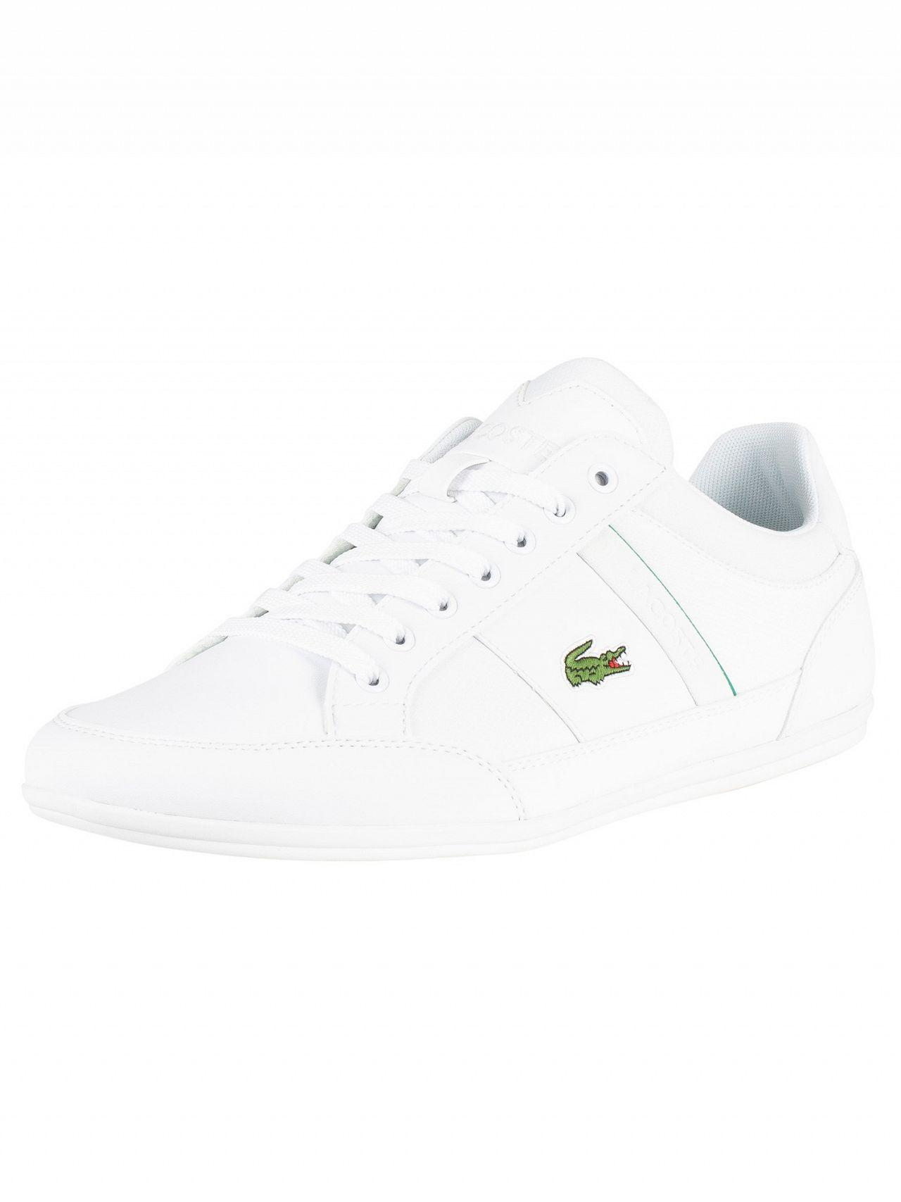 7e156b692 Lyst - Lacoste White Chaymon 219 1 Cma Leather Trainers in White for ...