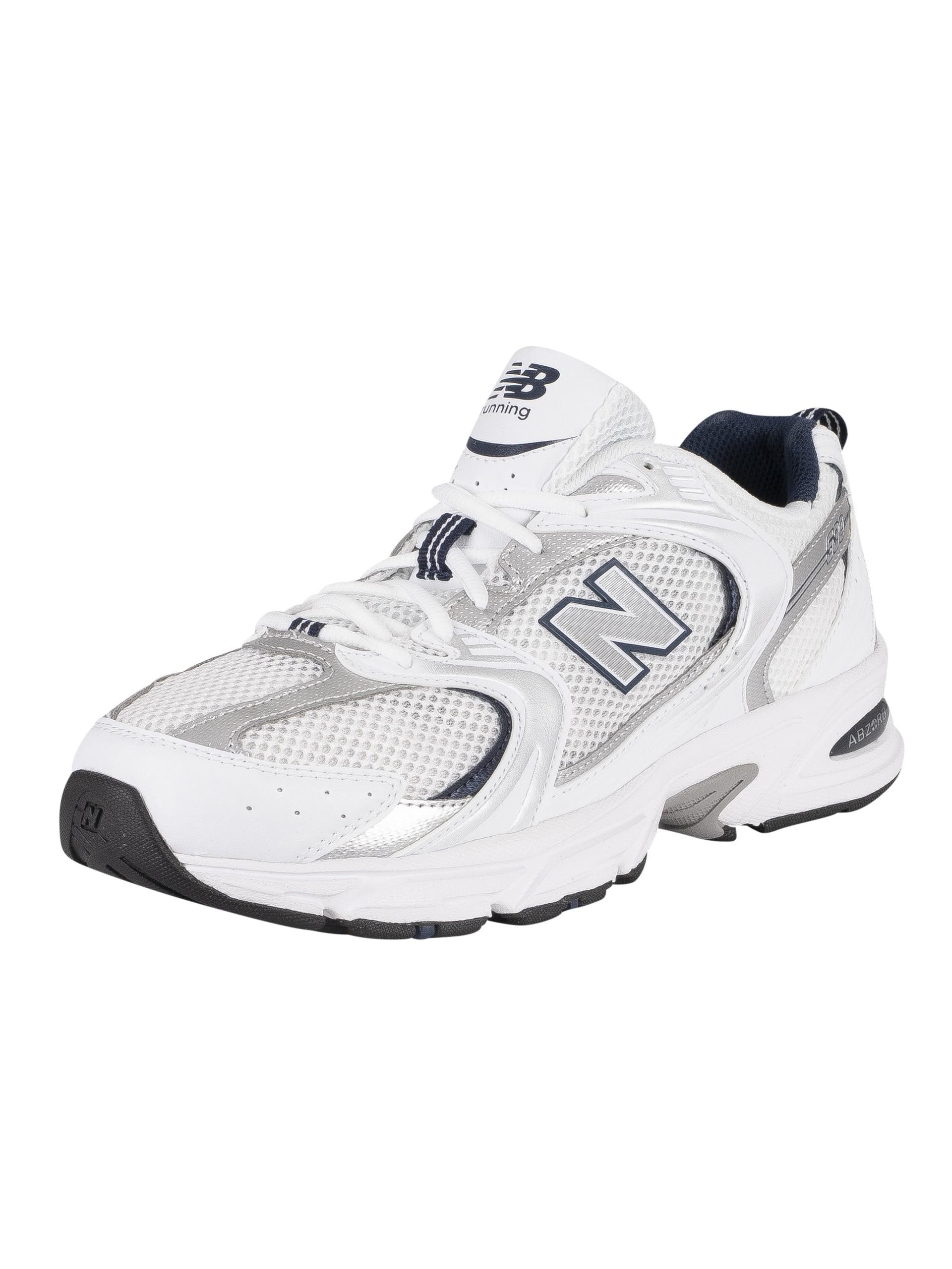 New Balance Suede 530 Trainers in White/Natural Indigo (White) for ...