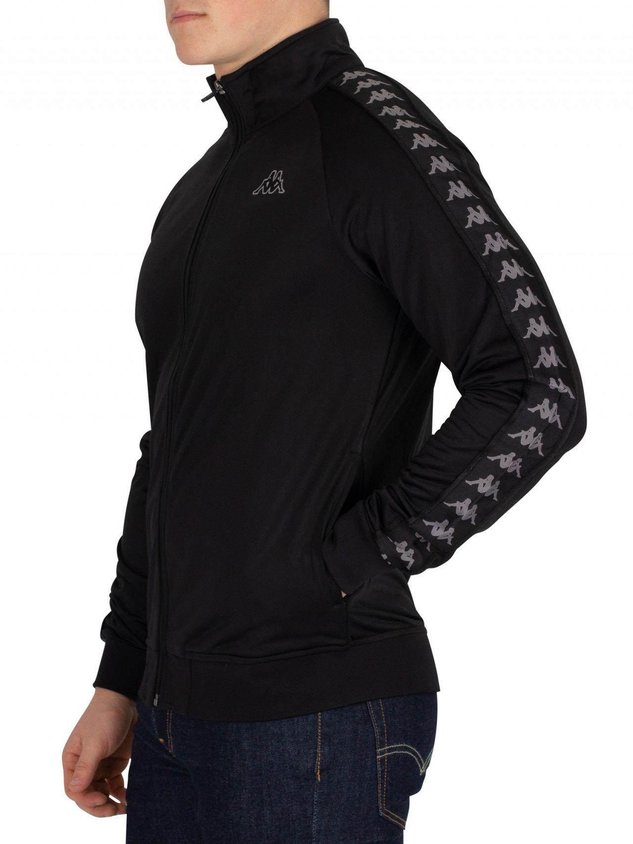 8009592ea8 Kappa Synthetic Black/grey Anniston 222 Banda Slim Fit Track Jacket ...