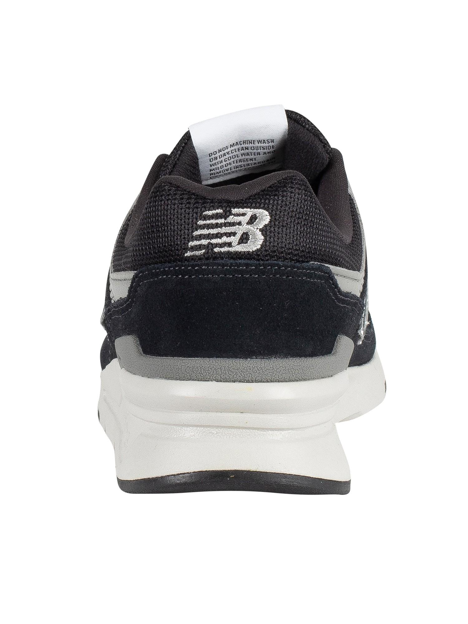 New Balance 977 Suede Trainers in Black/Silver/Grey (Black) for ...