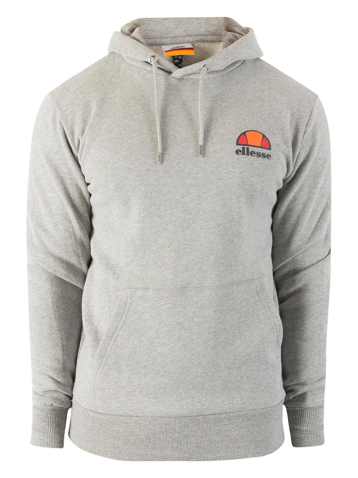 Ellesse Men/'s Toce Left Logo Hoodie Grey