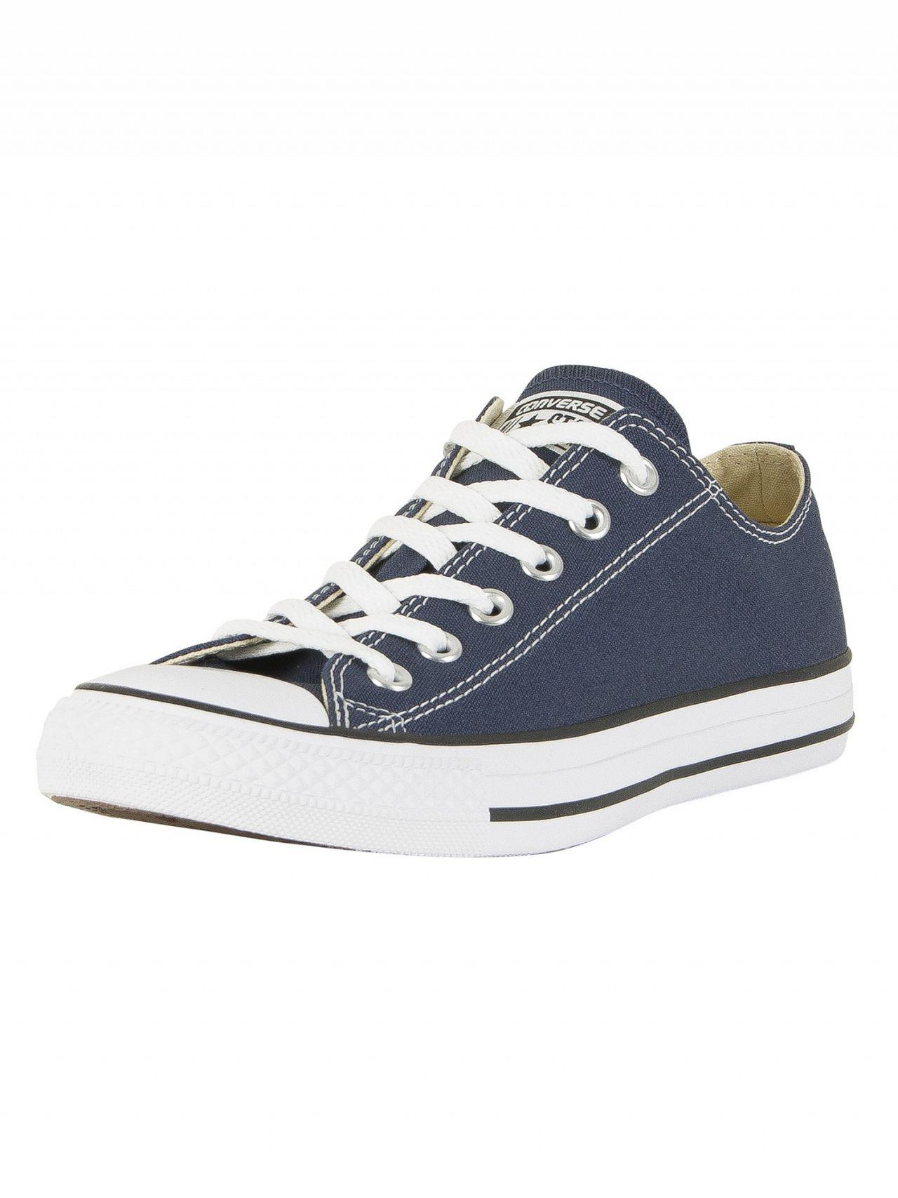 472d5072f0d12 Converse Navy All Star Ox Trainers in Blue for Men - Save 11% - Lyst