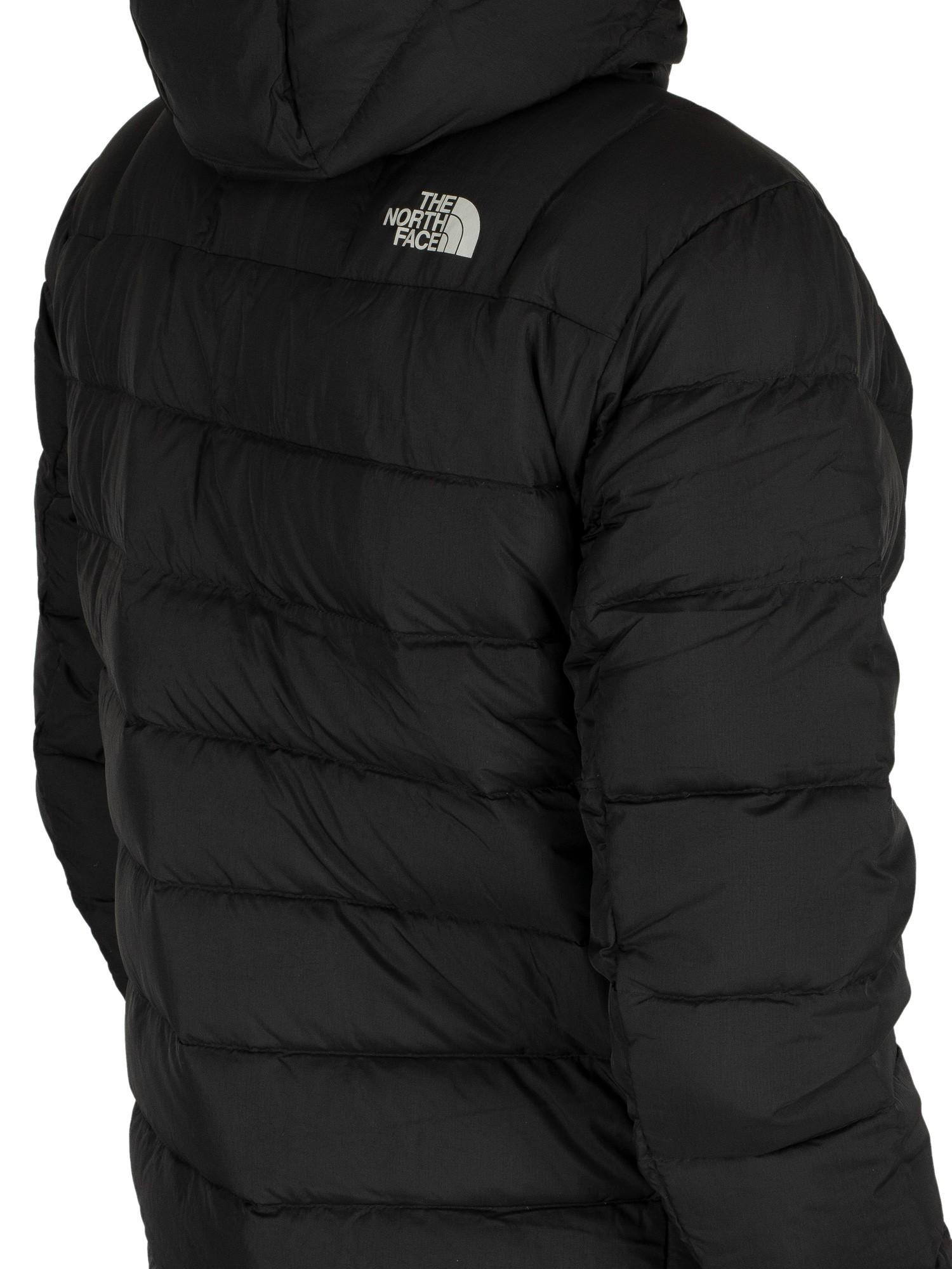 best service attractive price speical offer The North Face Goose Paz Hooded Logo Puffa Jacket in Black for Men ...