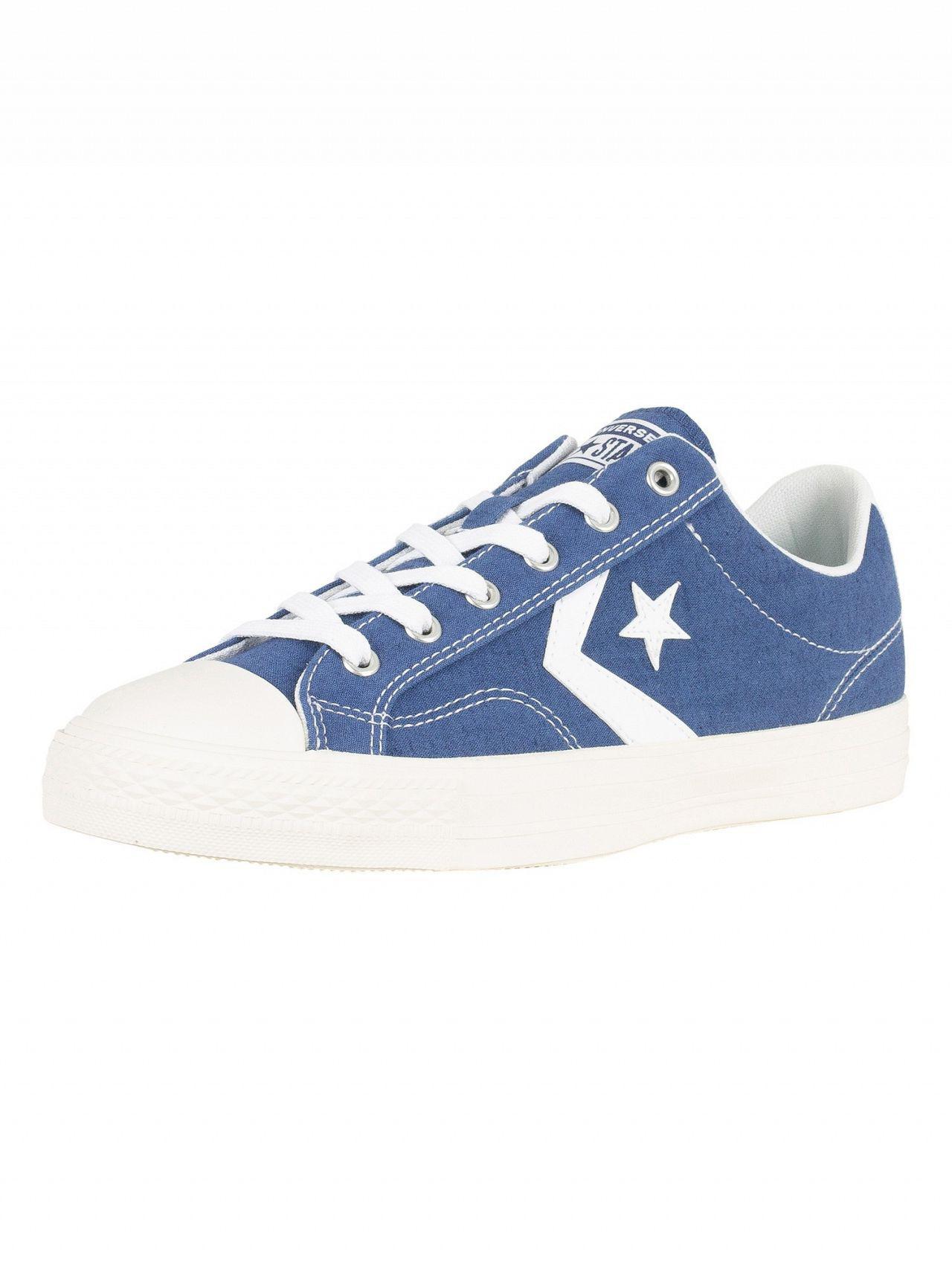 0283164ef98 ... usa converse. mens mason blue white star player ox canvas trainers  359e6 afa1d