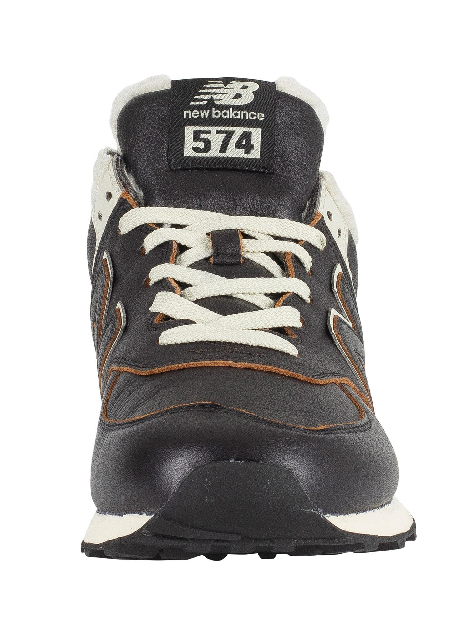 new balance dark brown 574 trainers