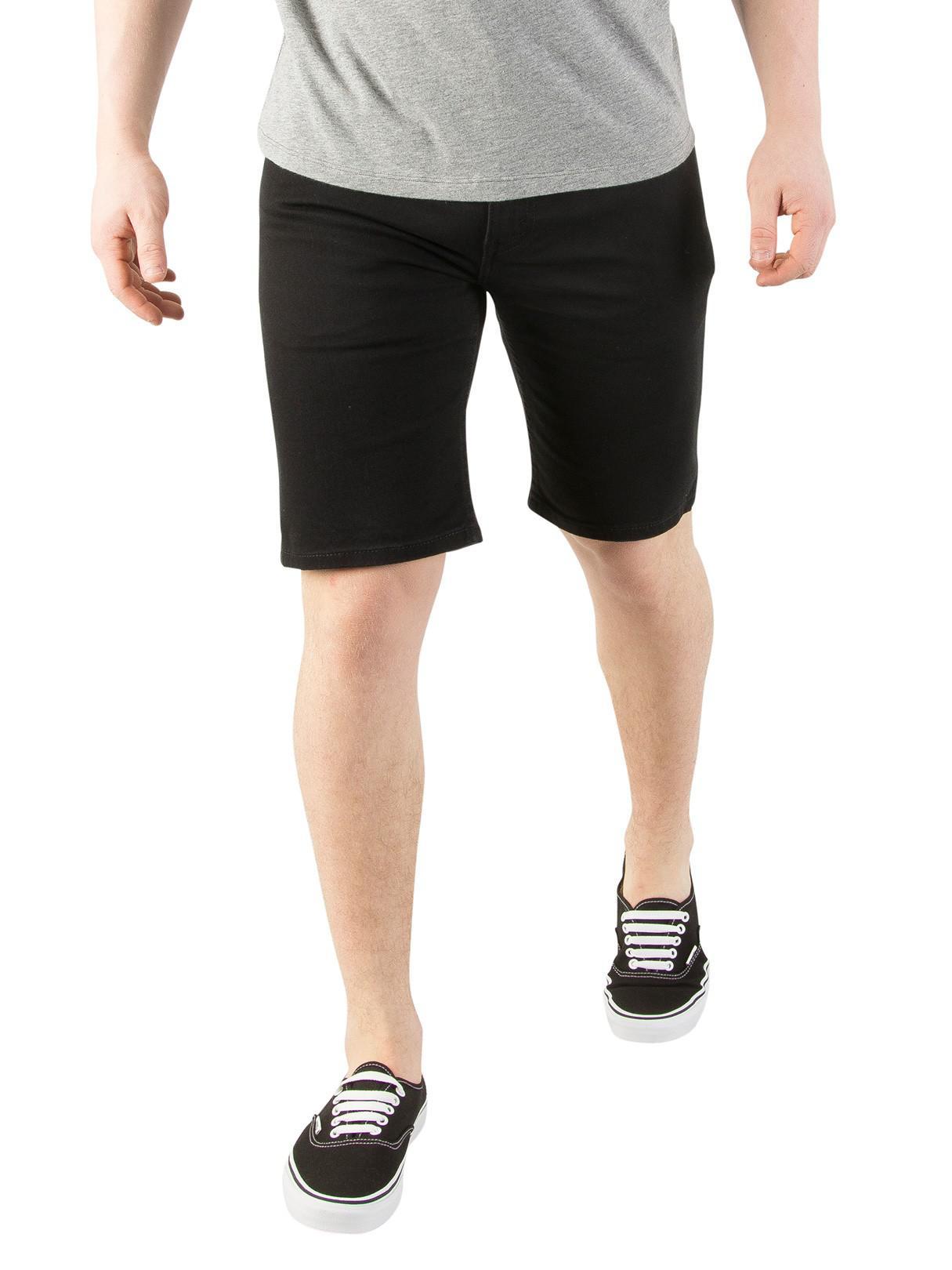 fc65ea7f Levi's Black 502 Taper Hemmed Jet Denim Shorts in Black for Men - Lyst