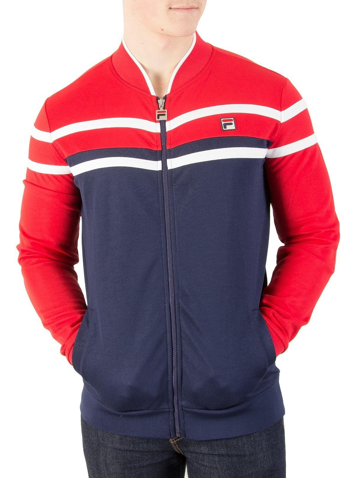 f60be21b07 Fila Vintage Peacoat/chinese Red/cream Naso Chest Stripe Track ...