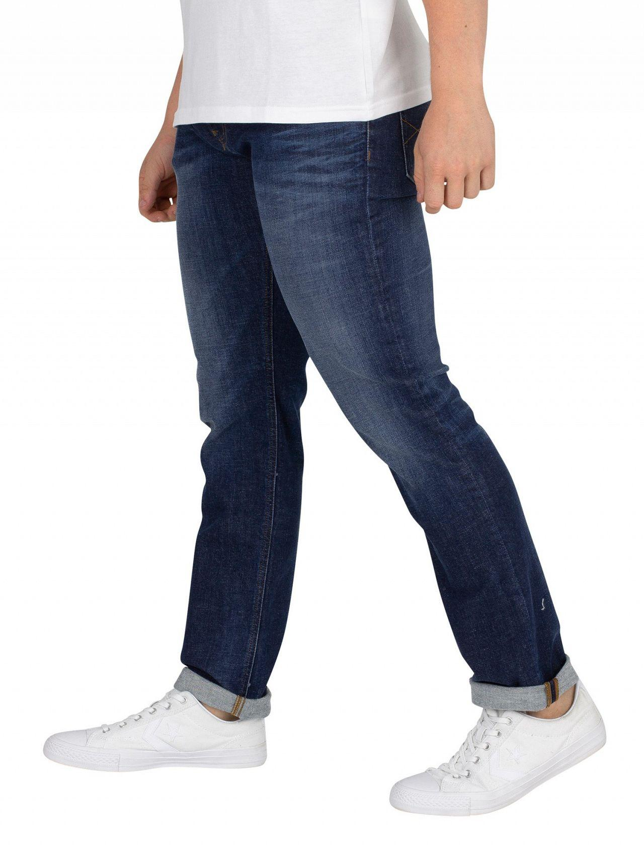 a11597f3e Lyst - Tommy Hilfiger Dynamic Jacob Dark Blue Slim Scanton Jeans in Blue for  Men
