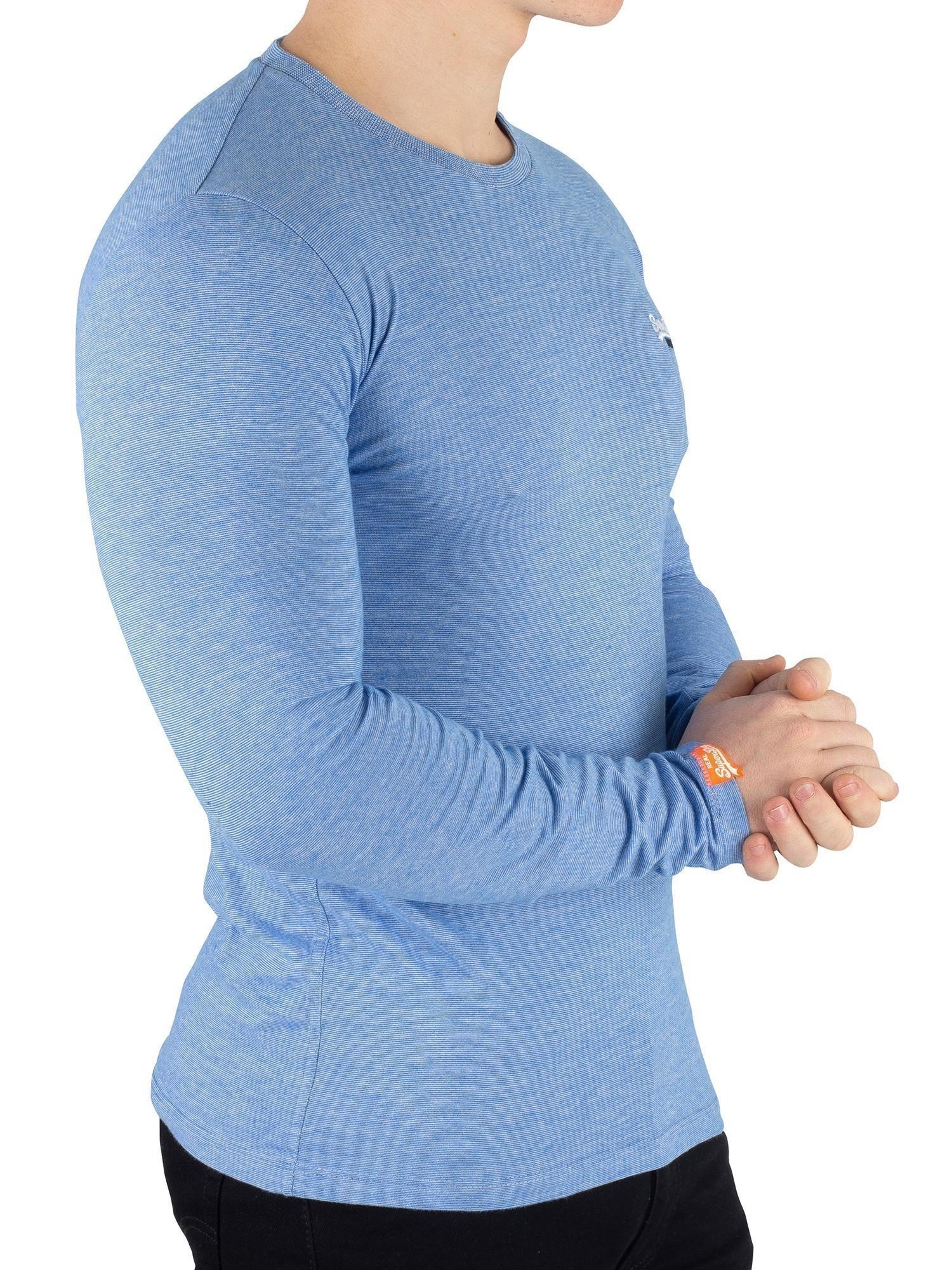 Superdry Mens T Shirt Orange Label Vintage Embroidery Tee Rick Teal Blue