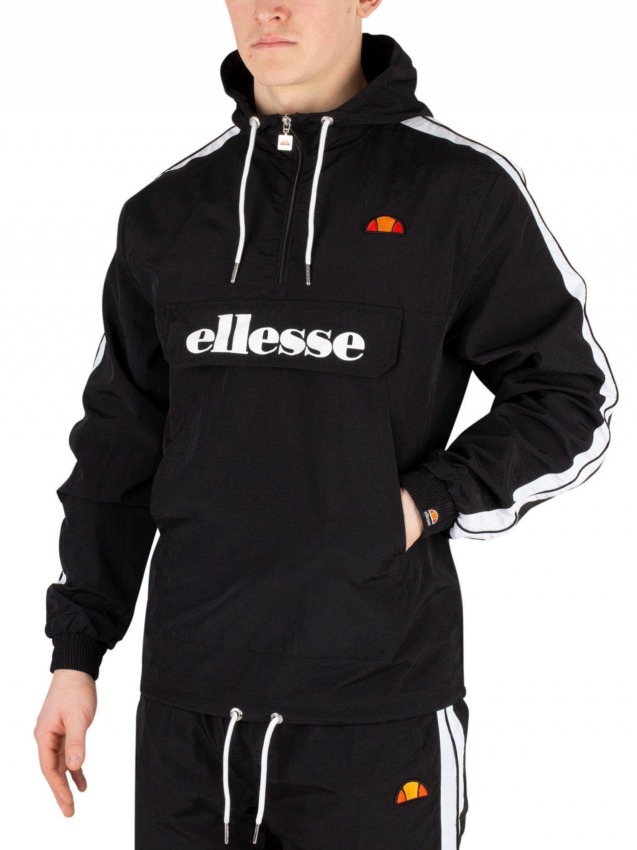 9d1b9ace21 Ellesse Black Fighter 1/2 Zip Track Jacket in Black for Men - Lyst