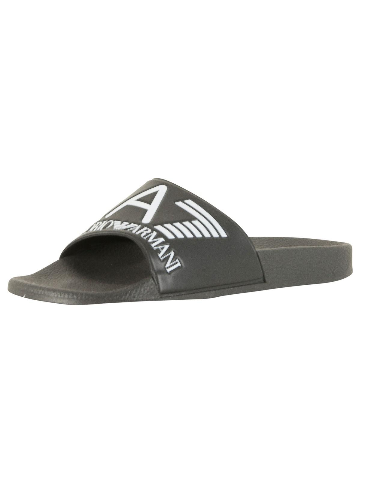 48d3e424538b Ea7 Black Sea World Sliders in Black for Men - Save ...