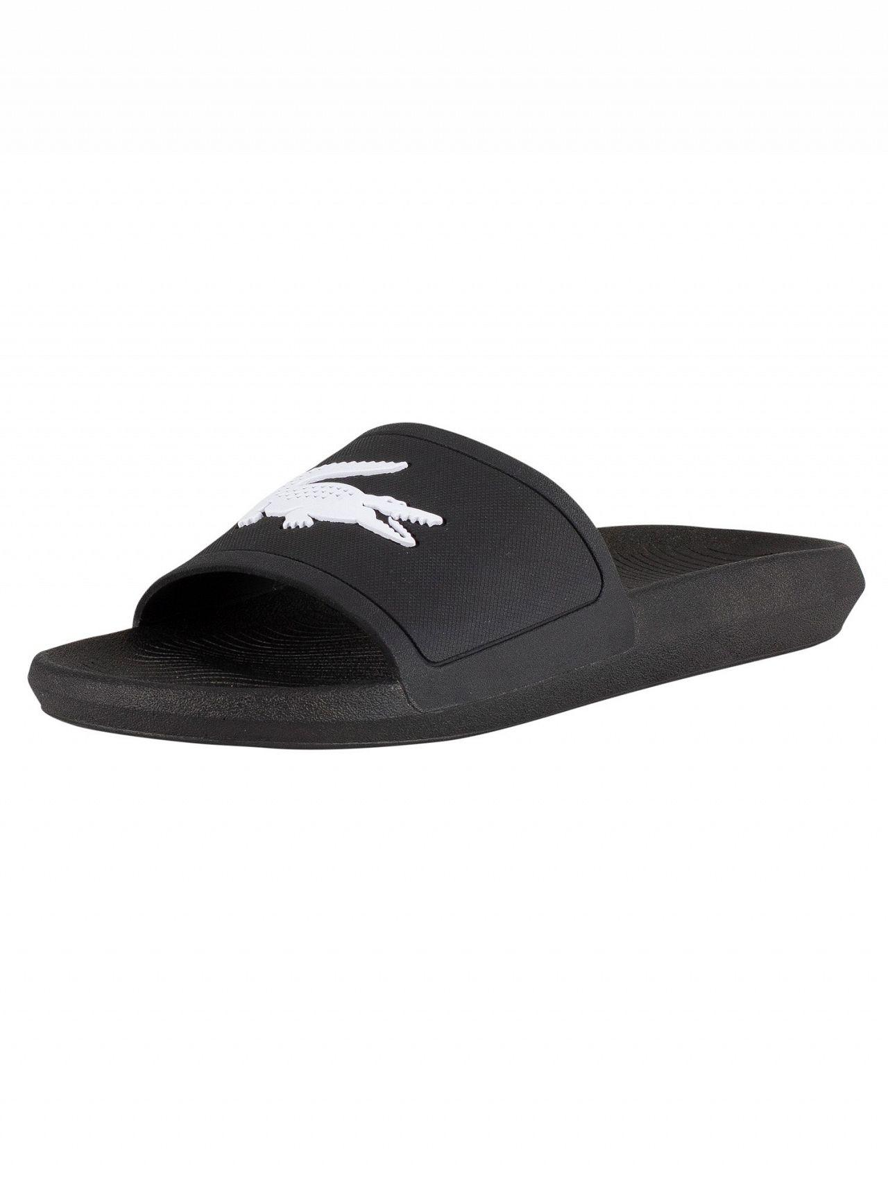 ccdb554c0b030b Lyst - Lacoste Black Flip-flops With Contrasting Logo in Black for ...