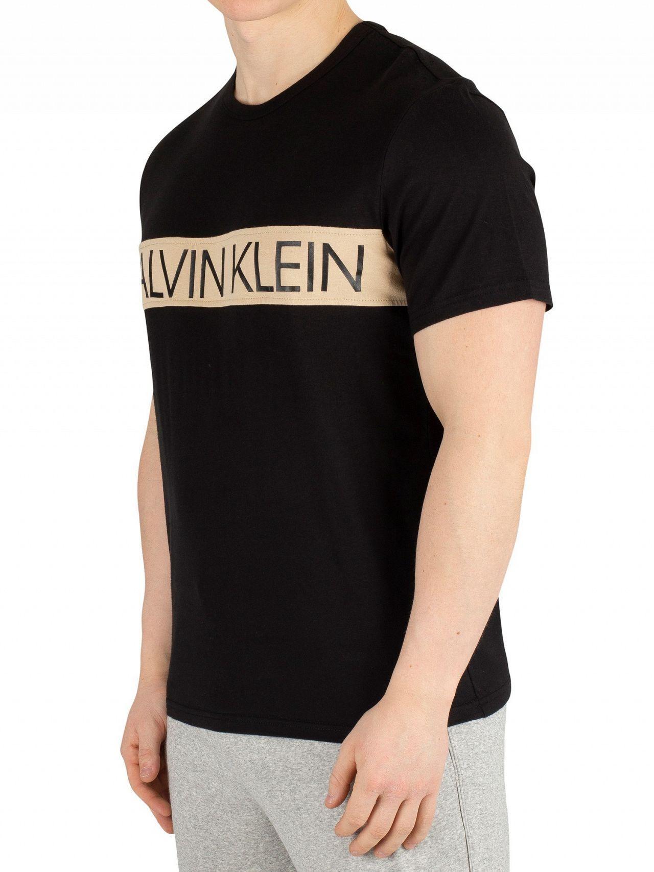 873040b36a1c Lyst - Calvin Klein Black Crew Neck T-shirt in Black for Men