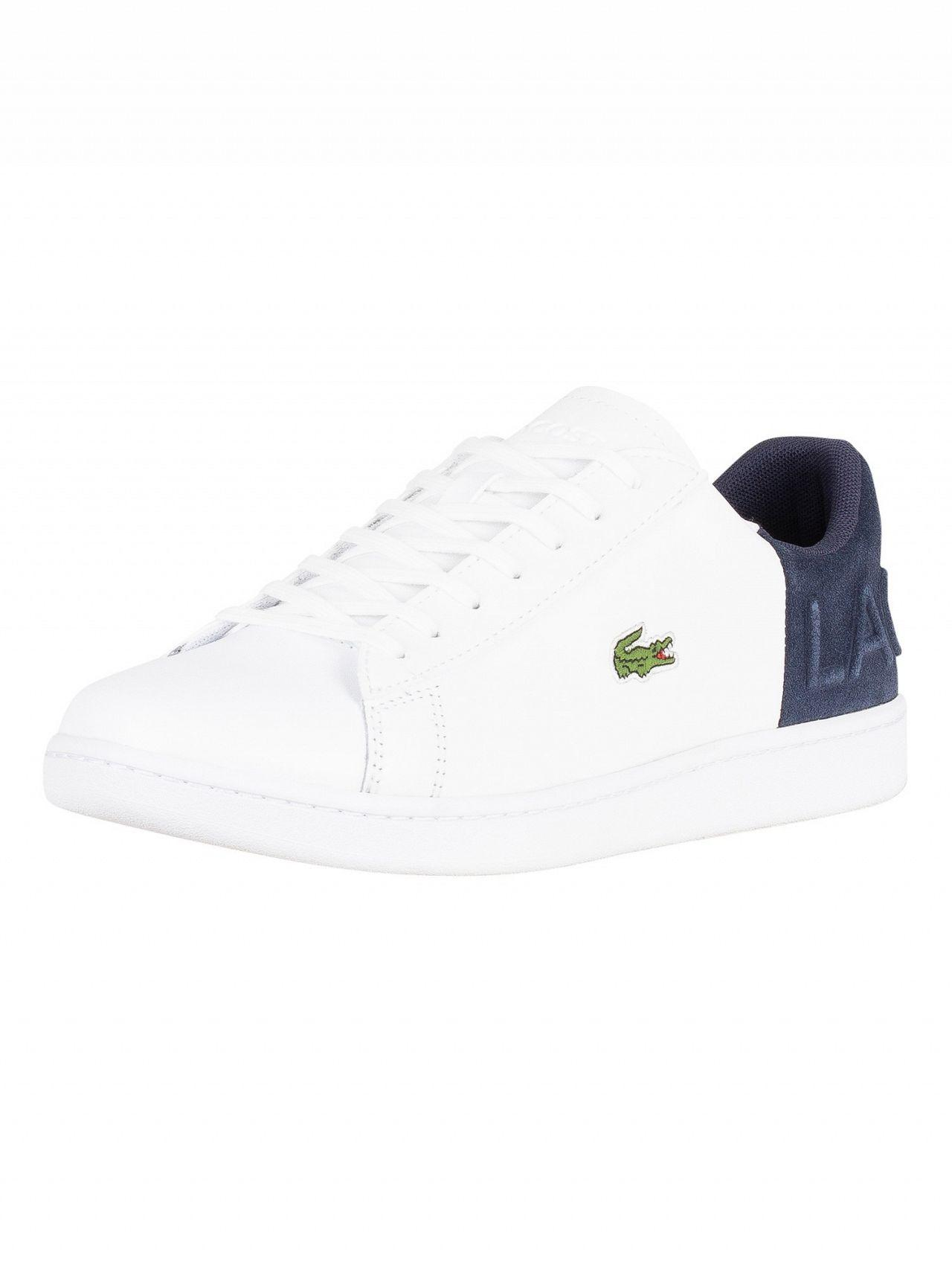 e2f943d39a6d40 Lyst - Lacoste White navy Carnaby Evo 318 2 Qsp Spm Leather Trainers ...