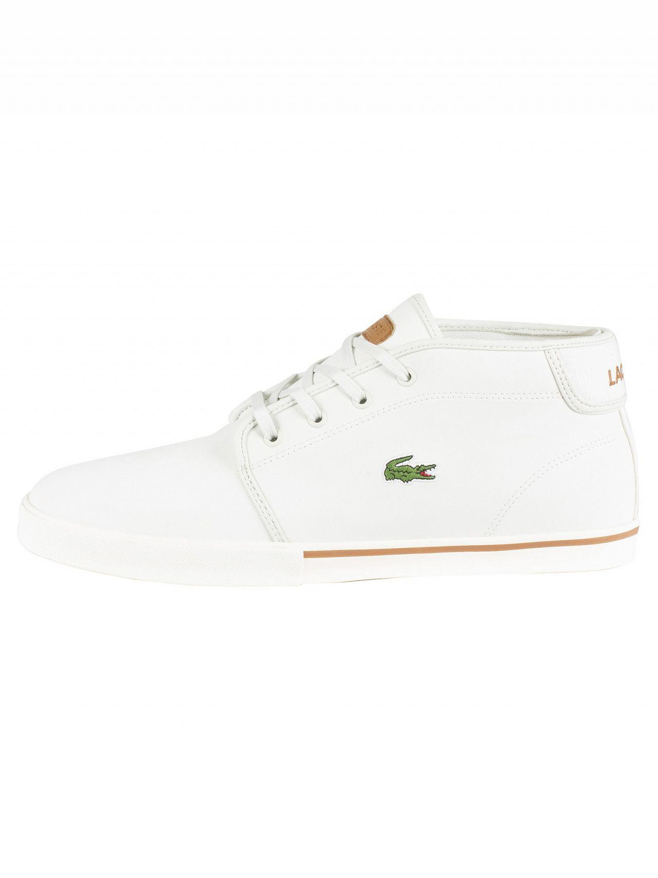 5ce54d4fd690 Lyst - Lacoste Off White light Brown Ampthill 119 1 Leather Trainers in  White for Men