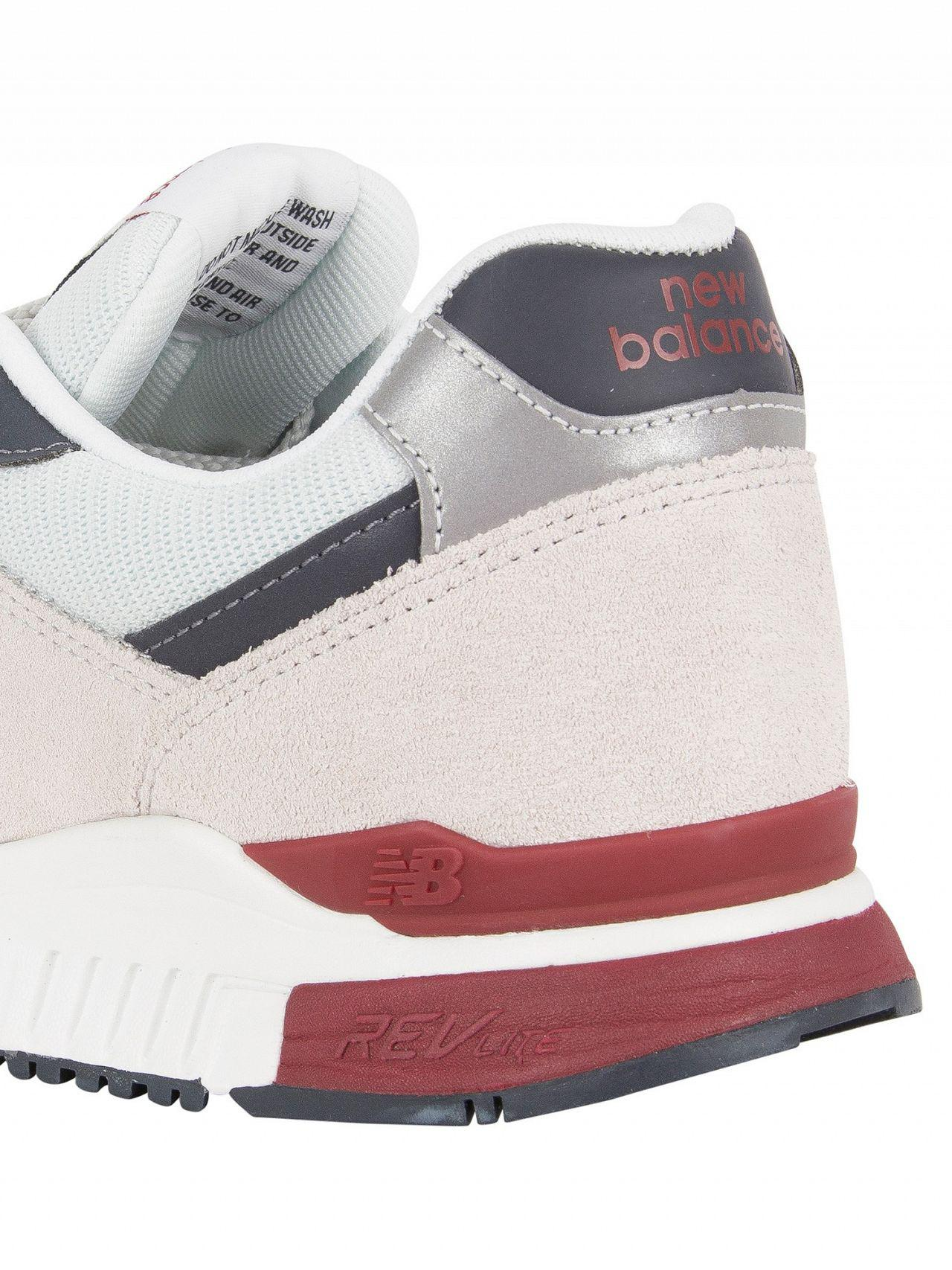 fb45ac0651 New Balance Pigment/white 840 Suede Trainers in White for Men - Lyst