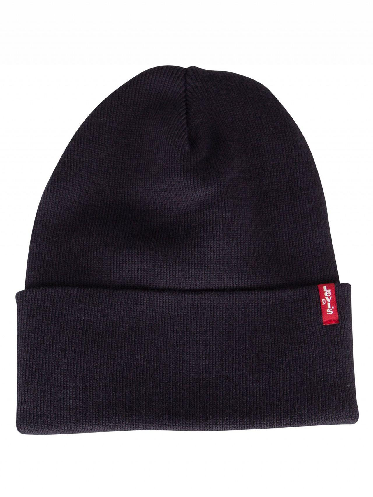 58c0702be98 Levi s - Navy Blue Slouchy Red Tab Beanie for Men - Lyst. View fullscreen