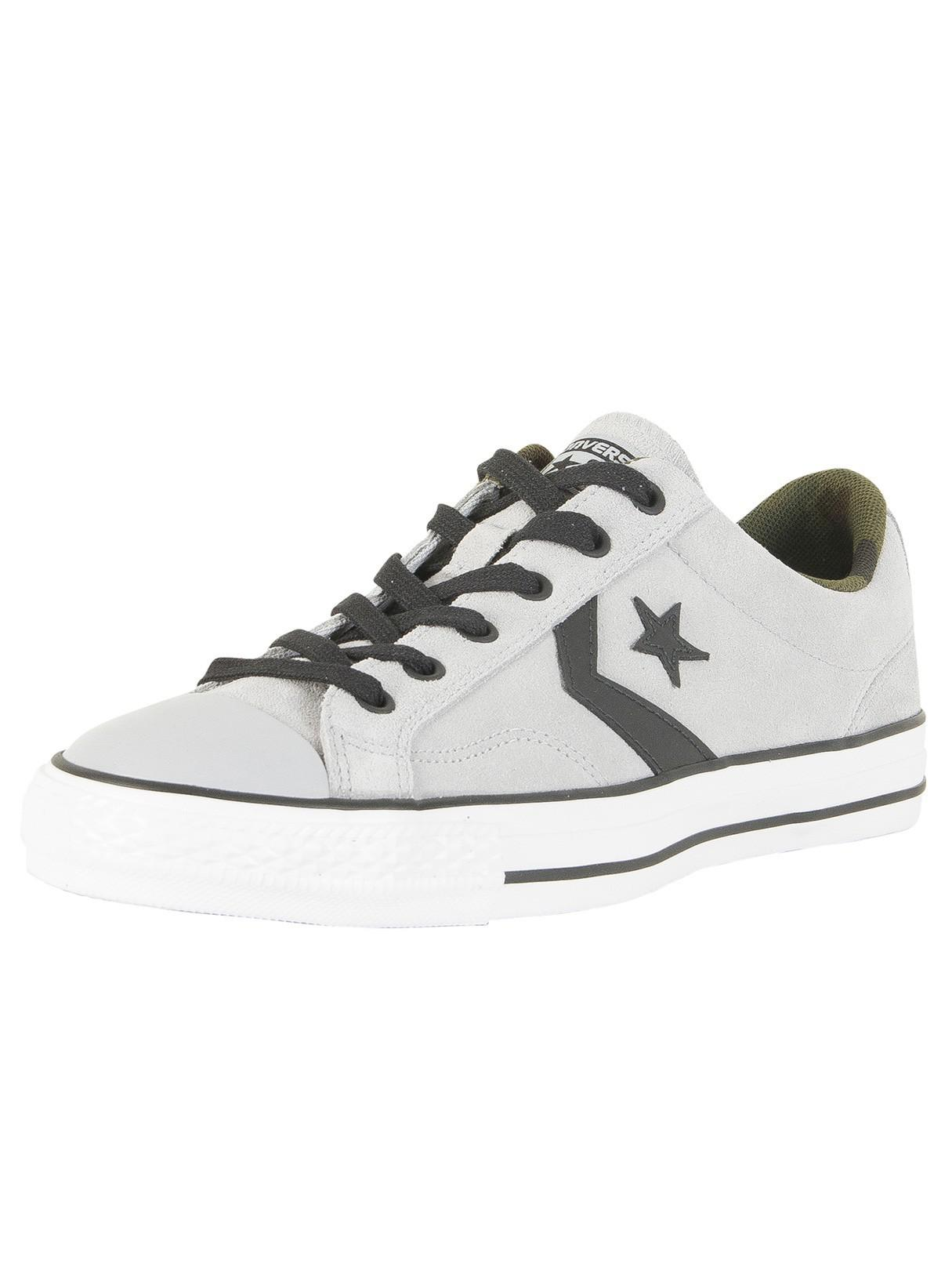 2873e2c6a97254 Lyst - Converse Wolf Grey black camo Star Player Ox Suede Trainers ...