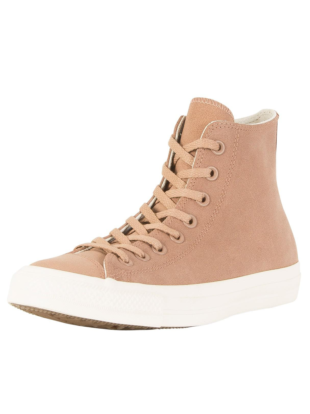 2e7005add80 Lyst - Converse Desert driftwood Ct All Star Leather Hi Trainers in ...