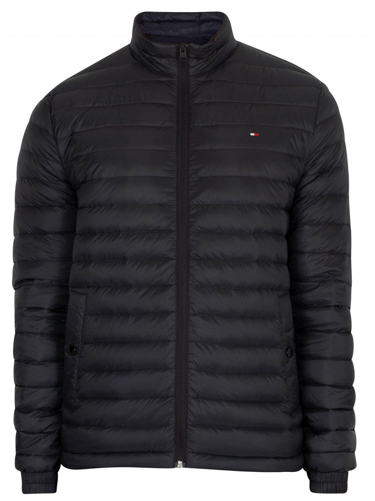 f82376cf4982 Tommy Hilfiger - Jet Black Core Lightweight Packable Down Jacket for Men -  Lyst. View fullscreen