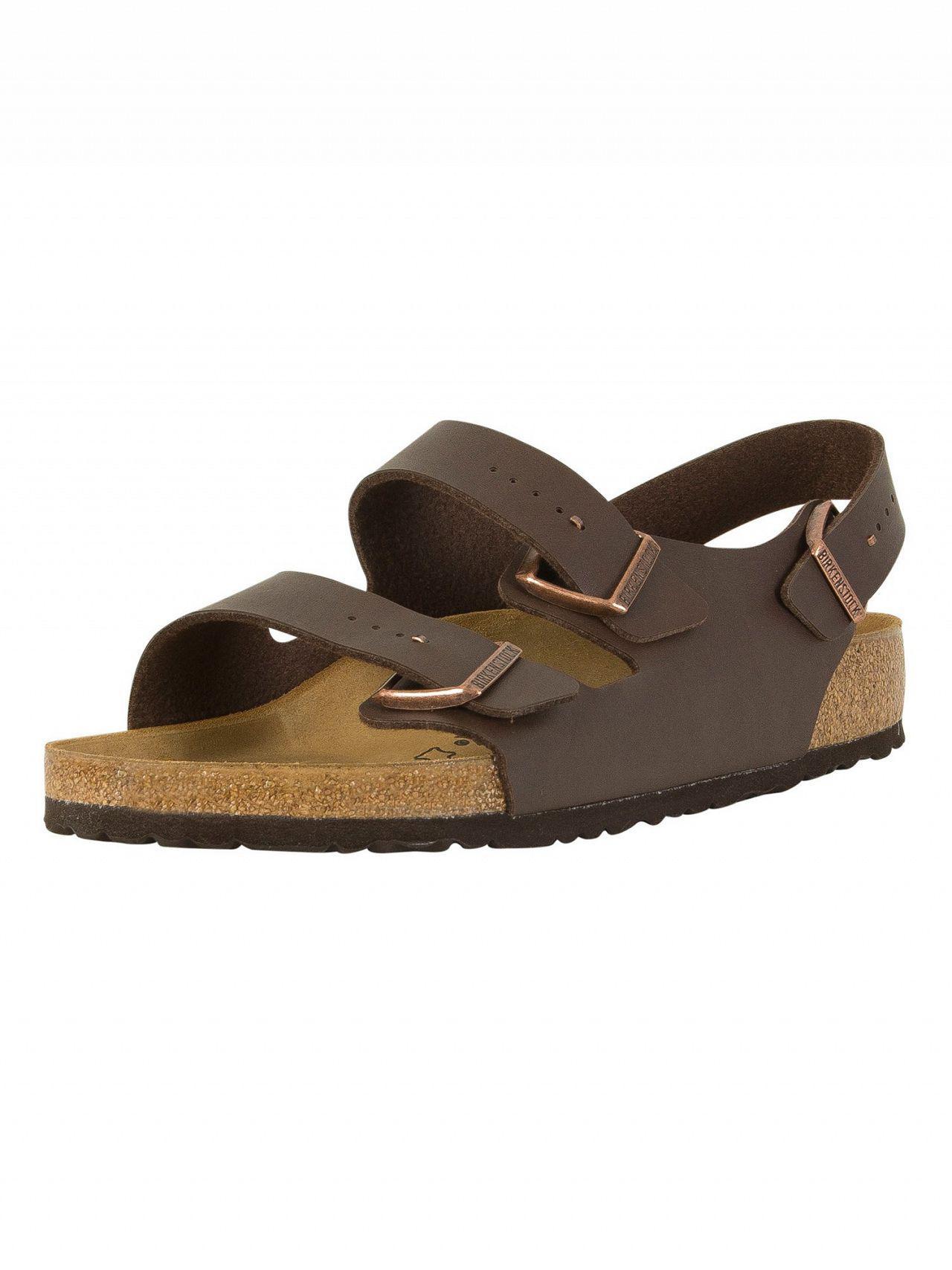 479629be0665 Lyst - Birkenstock Dark Brown Milano Sandals in Brown for Men - Save 7%