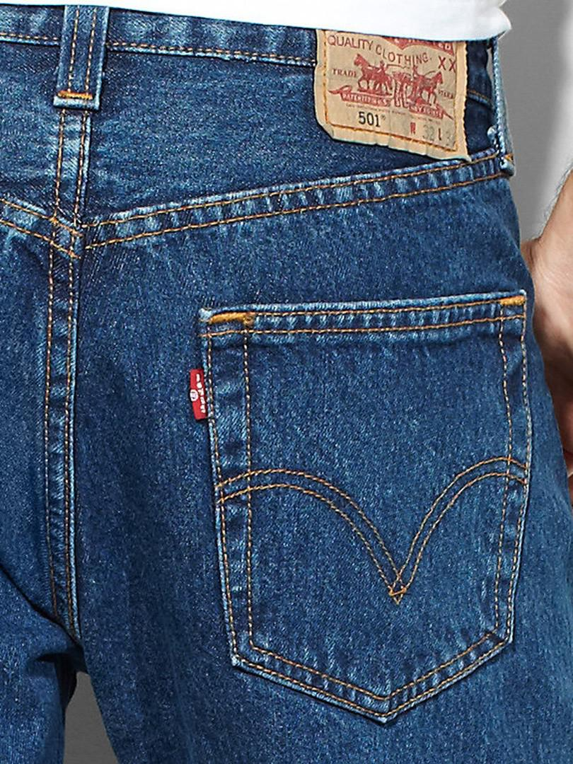 Levi's Stonewash 501 Original Fit Denim Jeans in Blue for ...