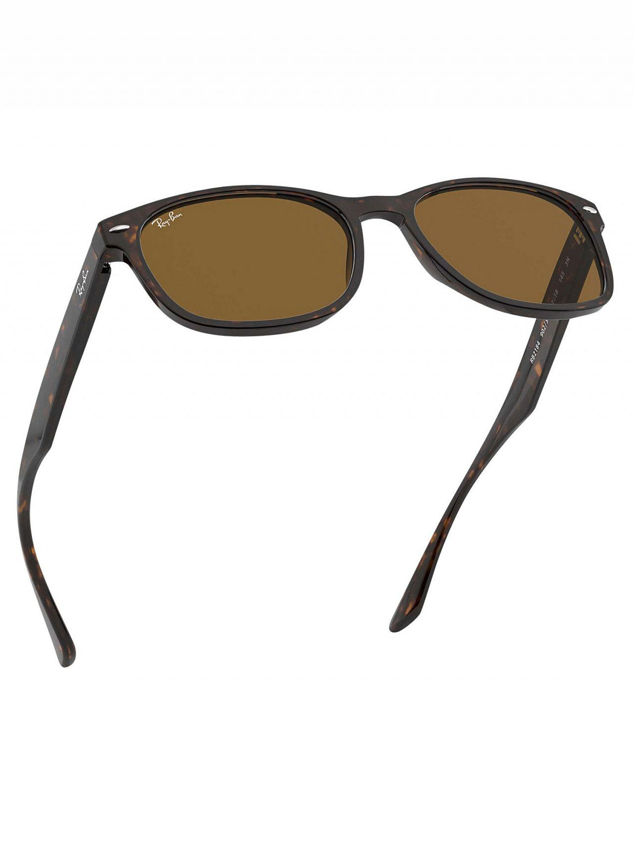 1df79291a3 Ray-Ban - Brown Tortoise Rb2184 Acetate Sunglasses for Men - Lyst. View  fullscreen
