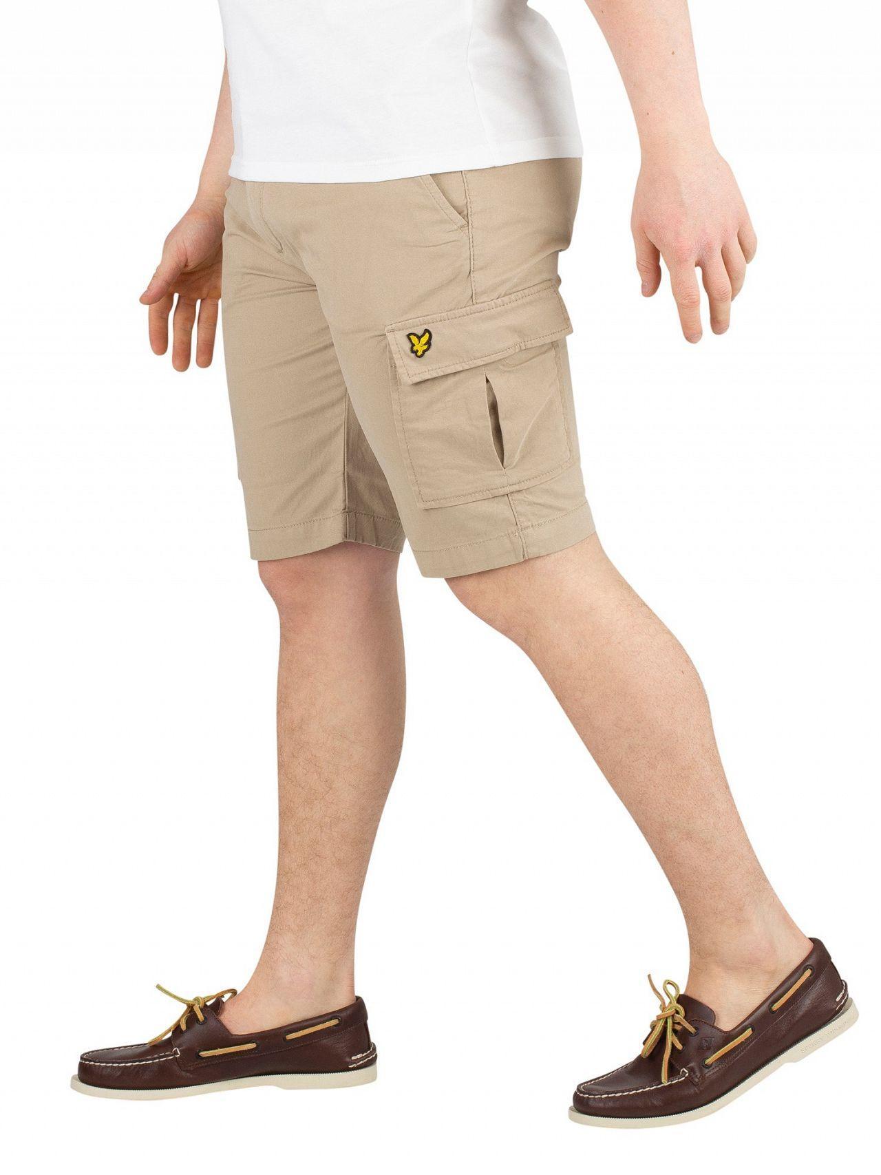 003c3be7da2 Lyle   Scott - Natural Stone Cargo Shorts for Men - Lyst. View fullscreen