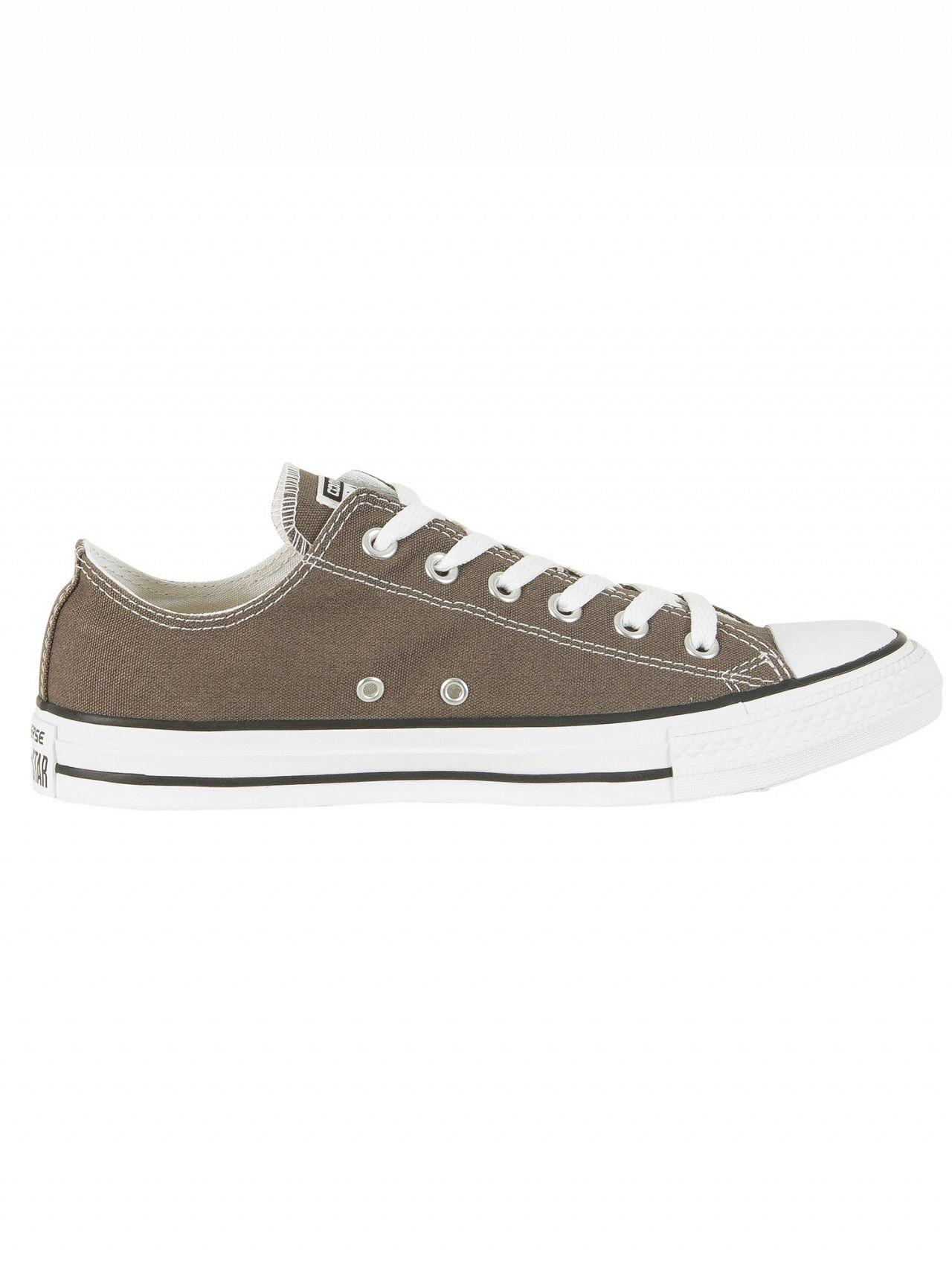 Converse Rubber Charcoal All Star Ox Trainers in Grey for Men