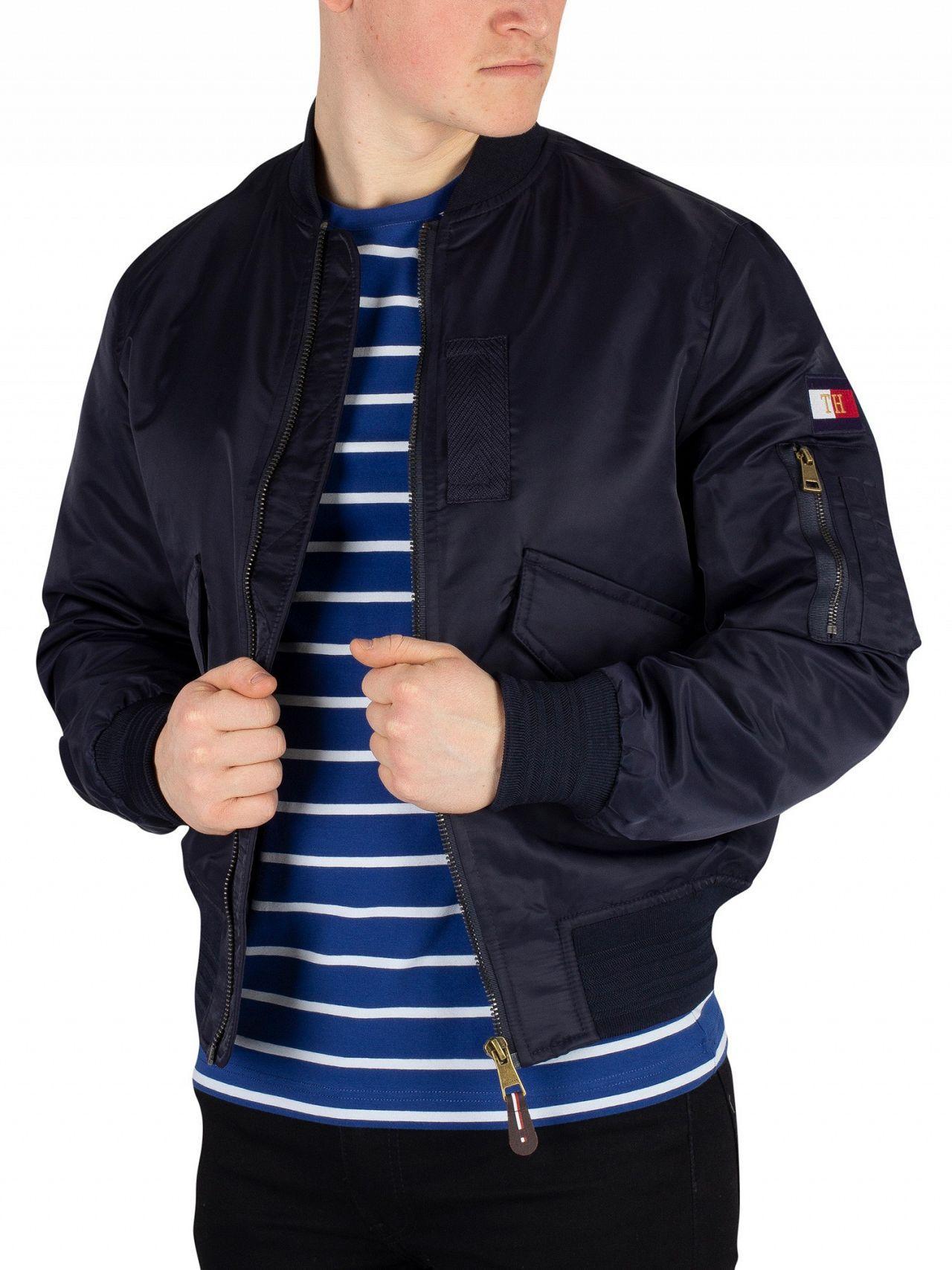 d31df6066e9 Tommy Hilfiger Sky Captain Icon Bomber Jacket in Blue for Men - Lyst