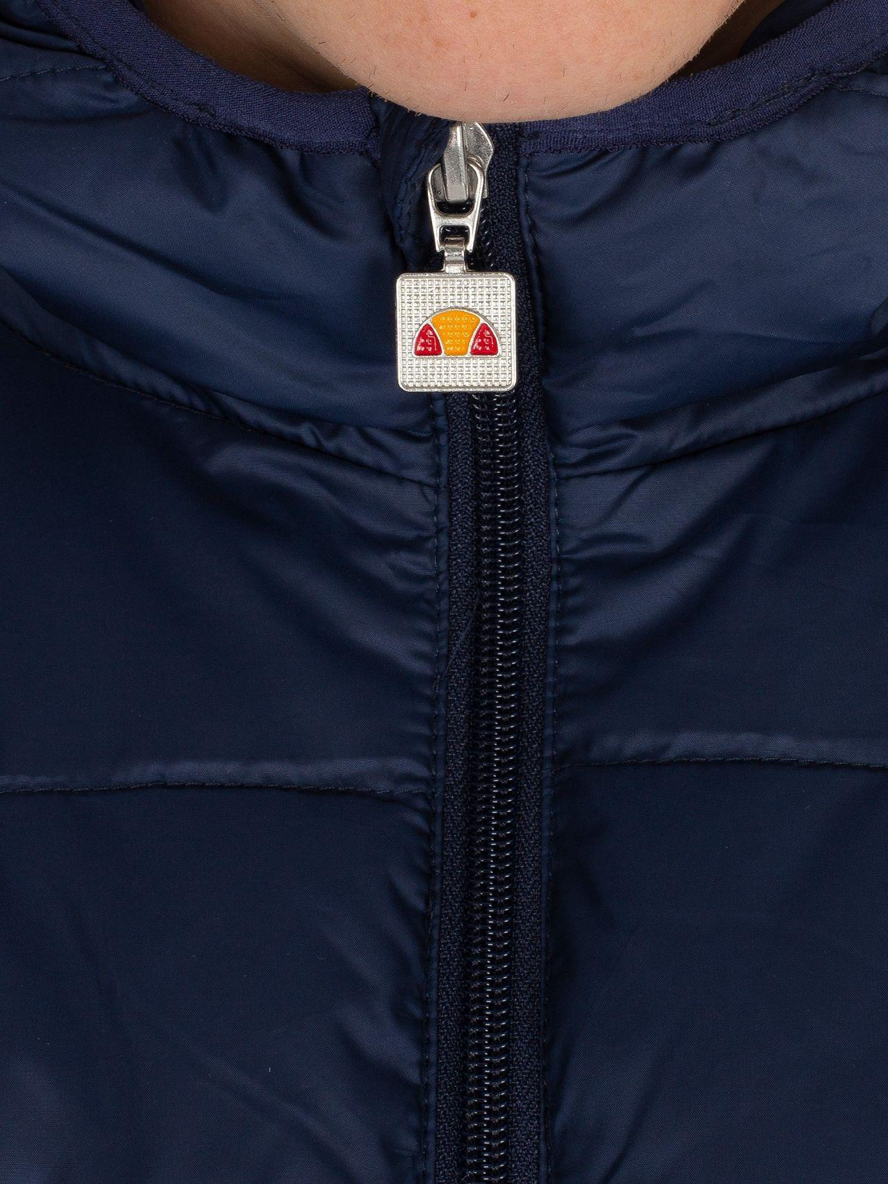 Ellesse Jacket Corvara Mens casual Padded Full Zip Navy Blue