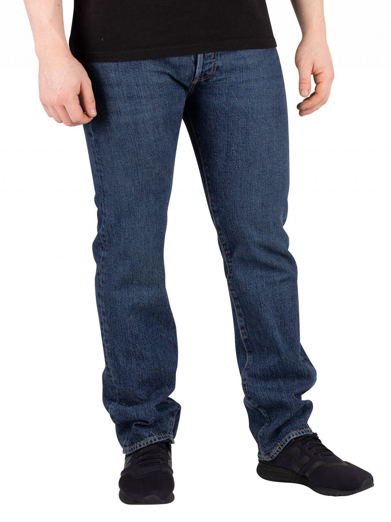 e5a5da4e Levi's Luther Blue 501 Original Fit Jeans in Blue for Men - Lyst