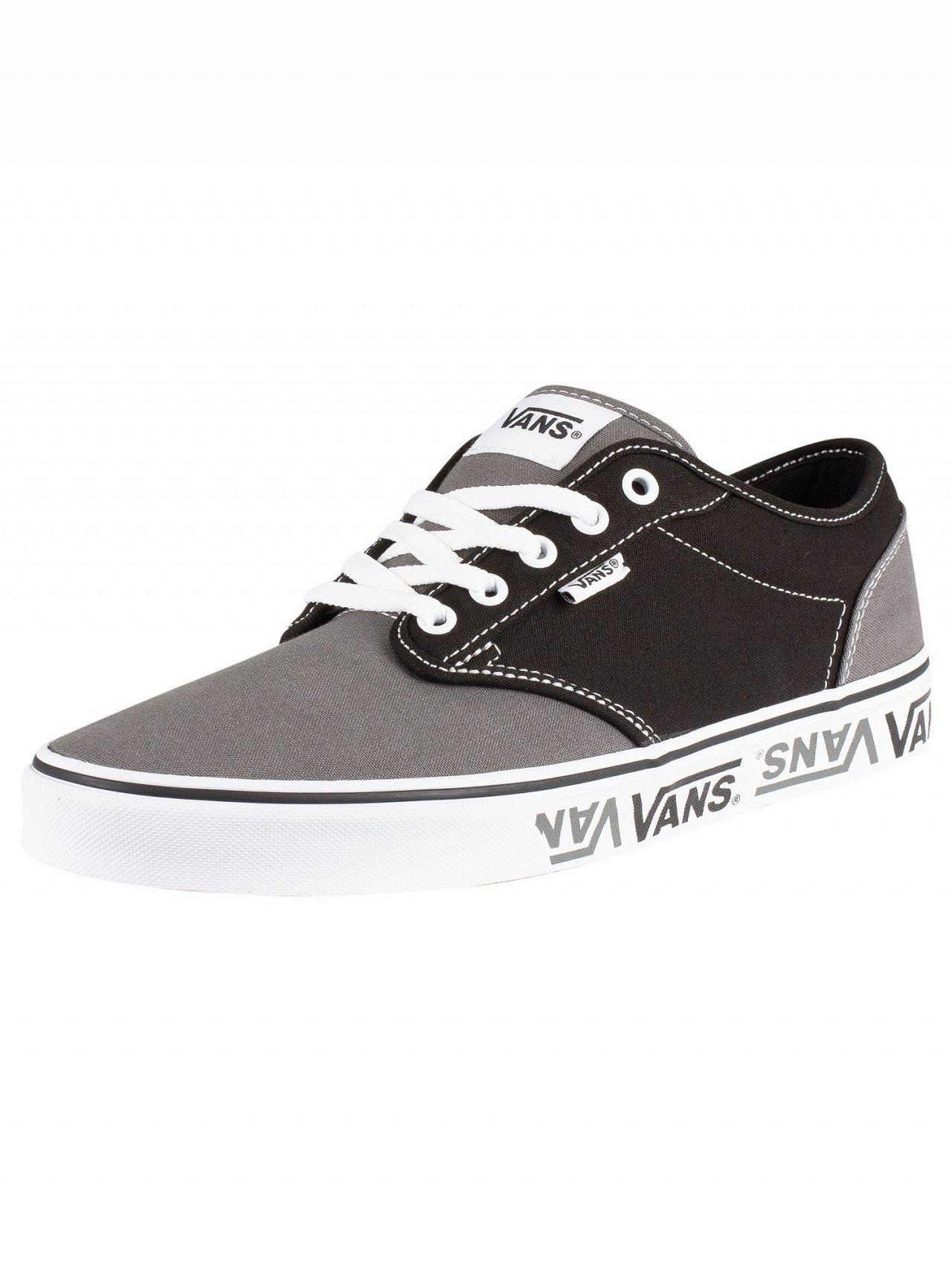 9fab4634cb Vans - Black grey Atwood Sidewall Logo Trainers for Men - Lyst. View  fullscreen