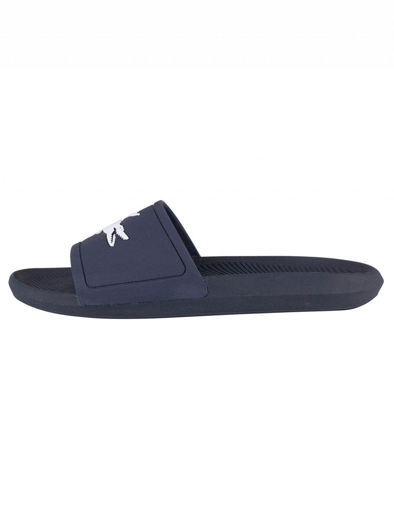48865f06b156 Lyst - Lacoste Croco Slide 119 1 Sandals in Blue for Men - Save 9%