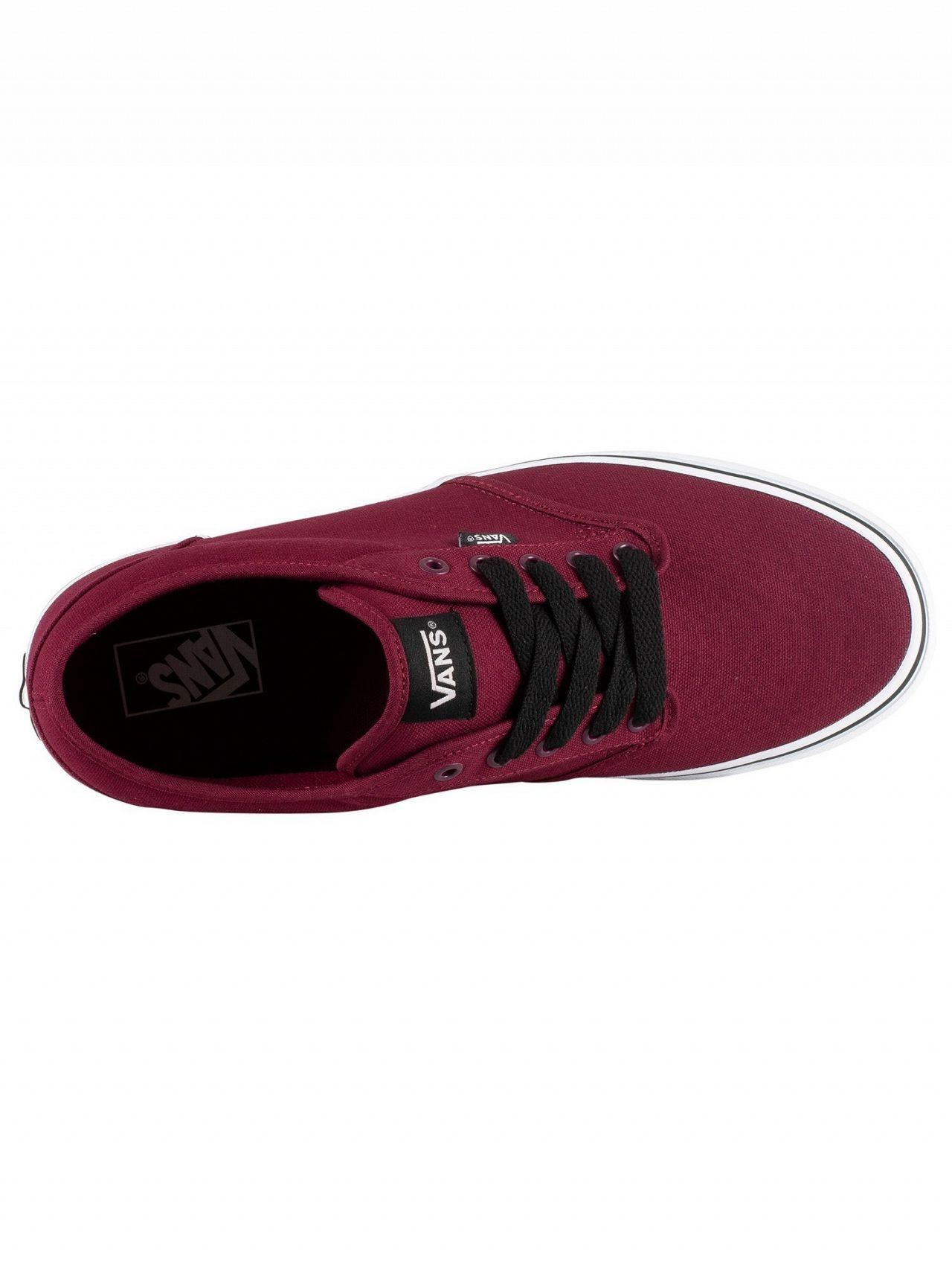 Vans Oxblood/white Atwood Canvas Trainers in Red for Men - Lyst