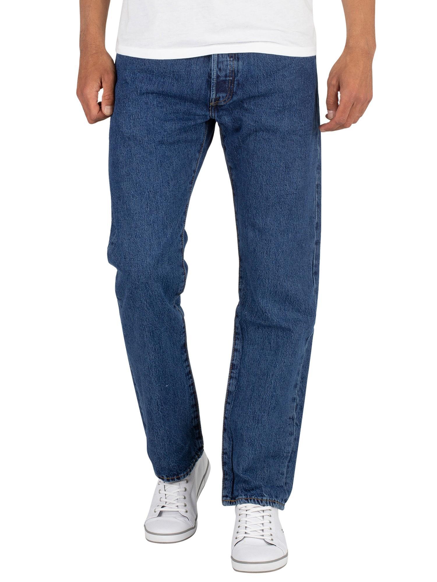 Levi's 501 Original Fit Denim Jeans in Stonewash (Blue ...