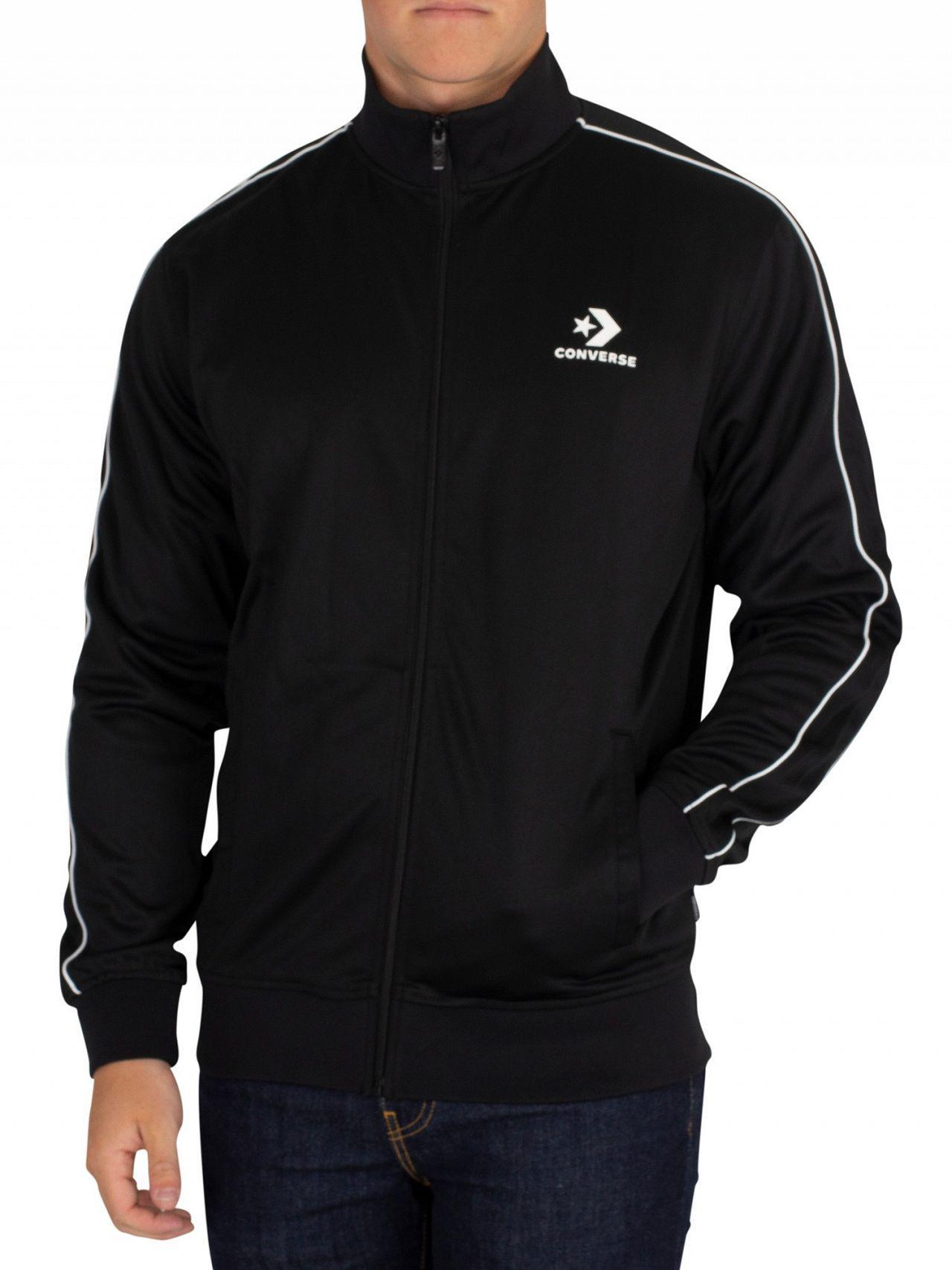 313cb434303c Converse - Black Track Jacket for Men - Lyst. View fullscreen