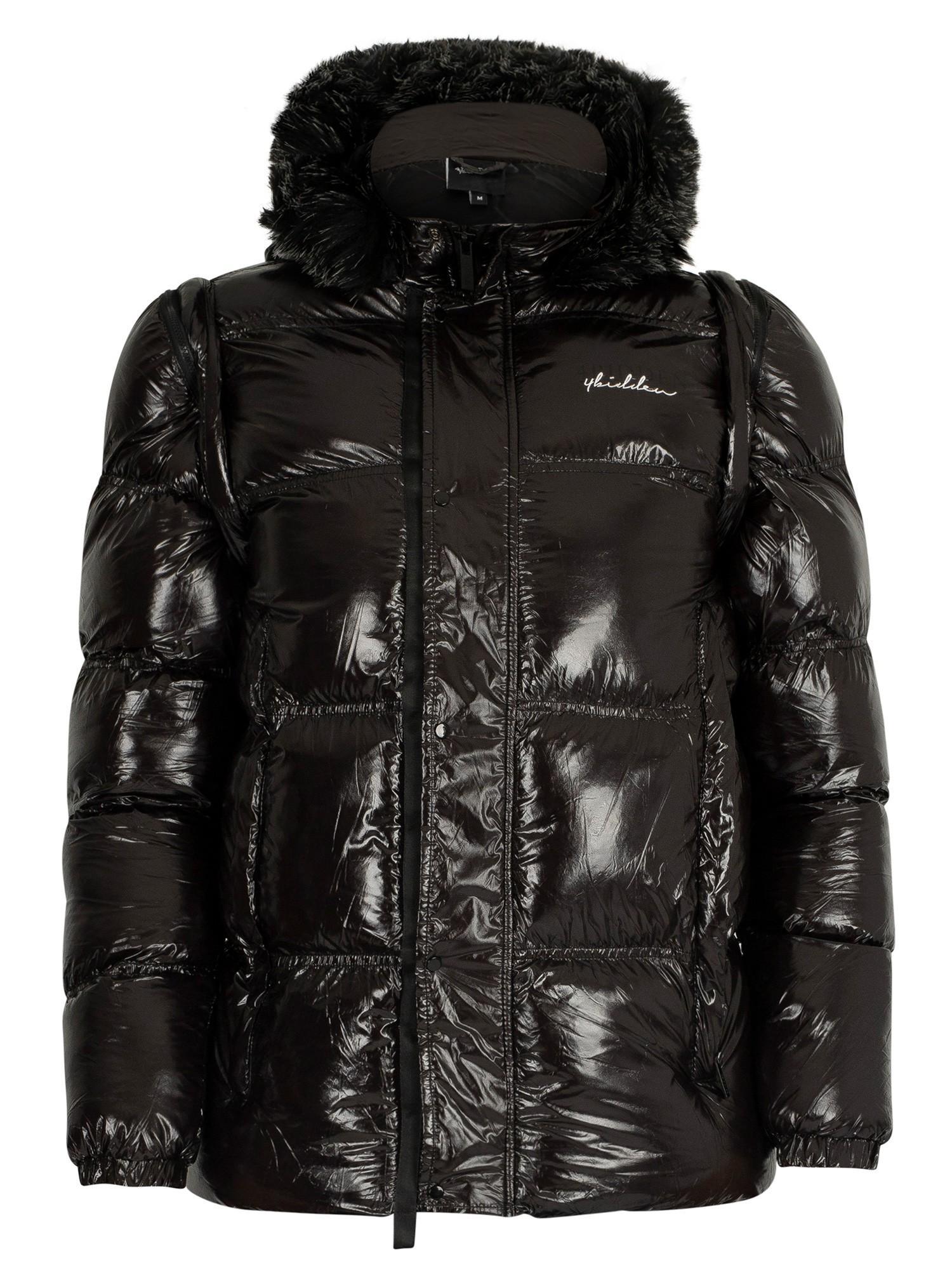 Black 4Bidden Men/'s Overcast Parka Jacket
