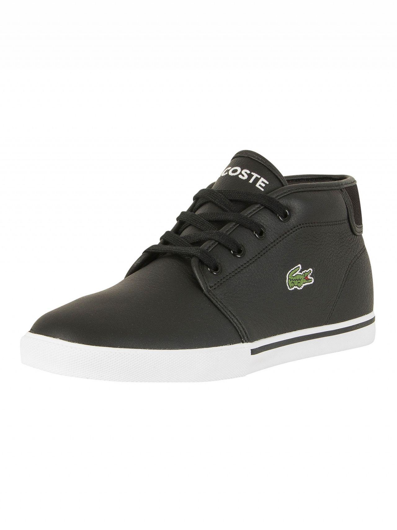 Ampthill Mid Trainers In Black - Black Lacoste pxbsp55S