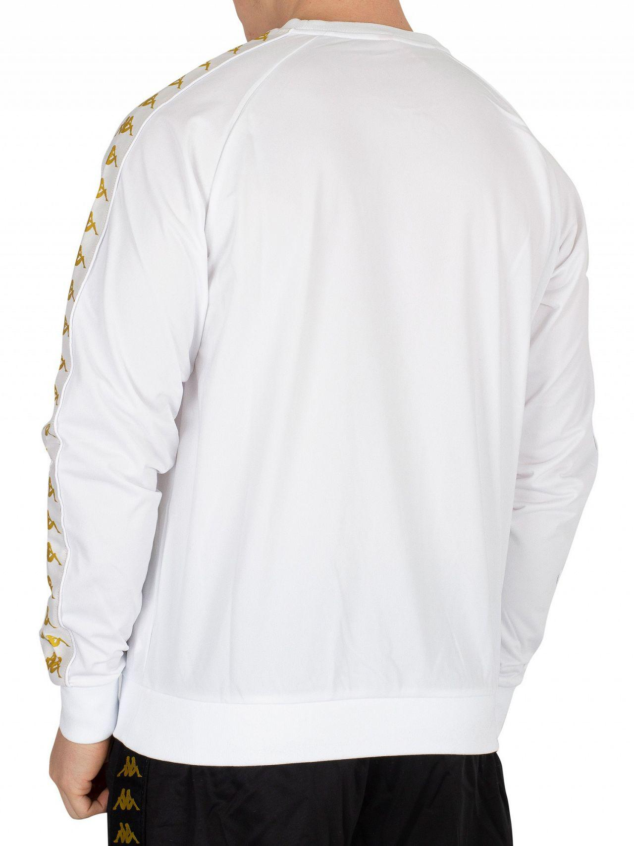 8bf73987 Kappa White/gold Ghiamis Sweatshirt in White for Men - Lyst
