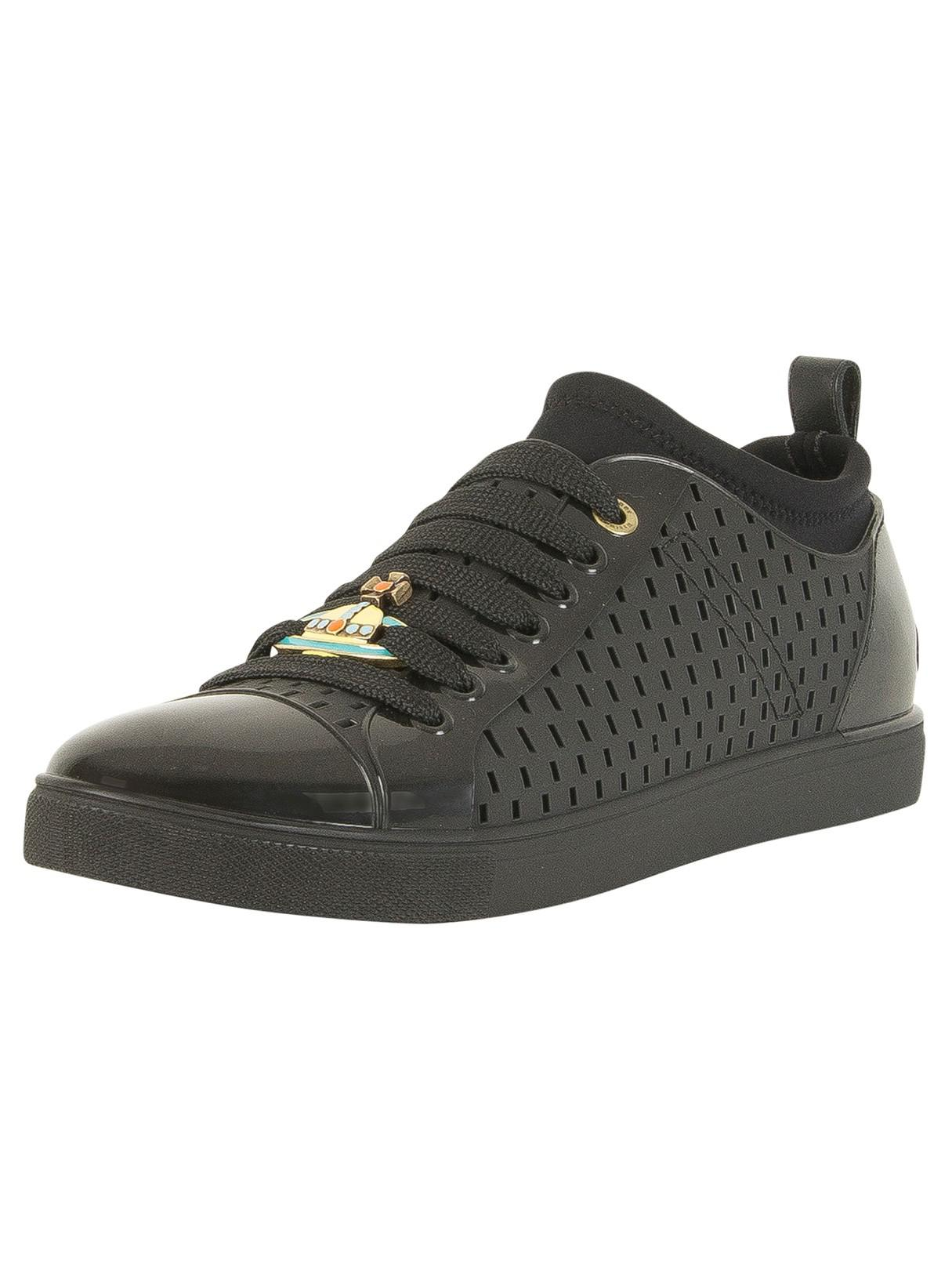 874ff6a9e5bc9 Vivienne Westwood Black Sneaker Orb Leather Trainers in Black for ...