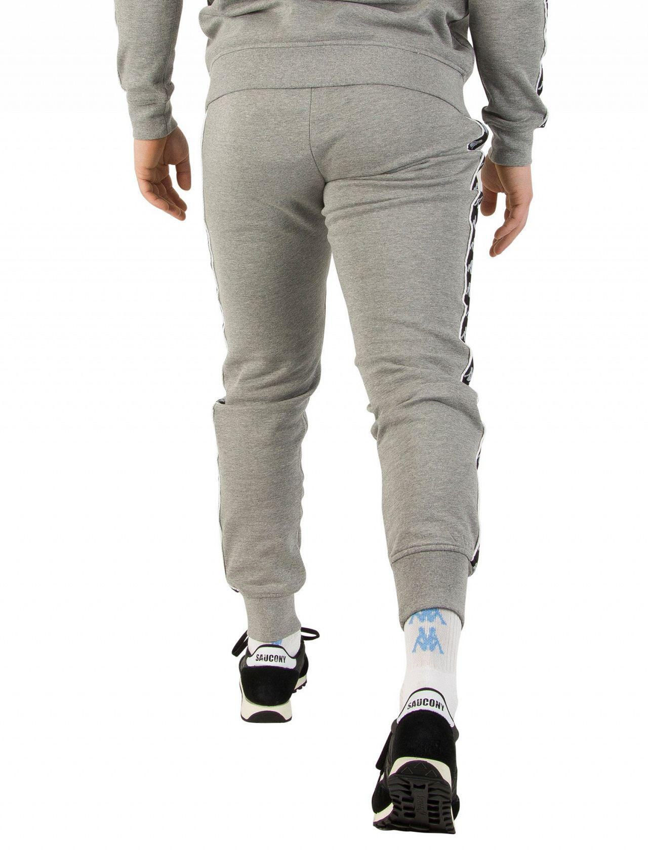 9acdbb17 Kappa Gray Grey Melange/black Authentic Lucio Slim Joggers for men